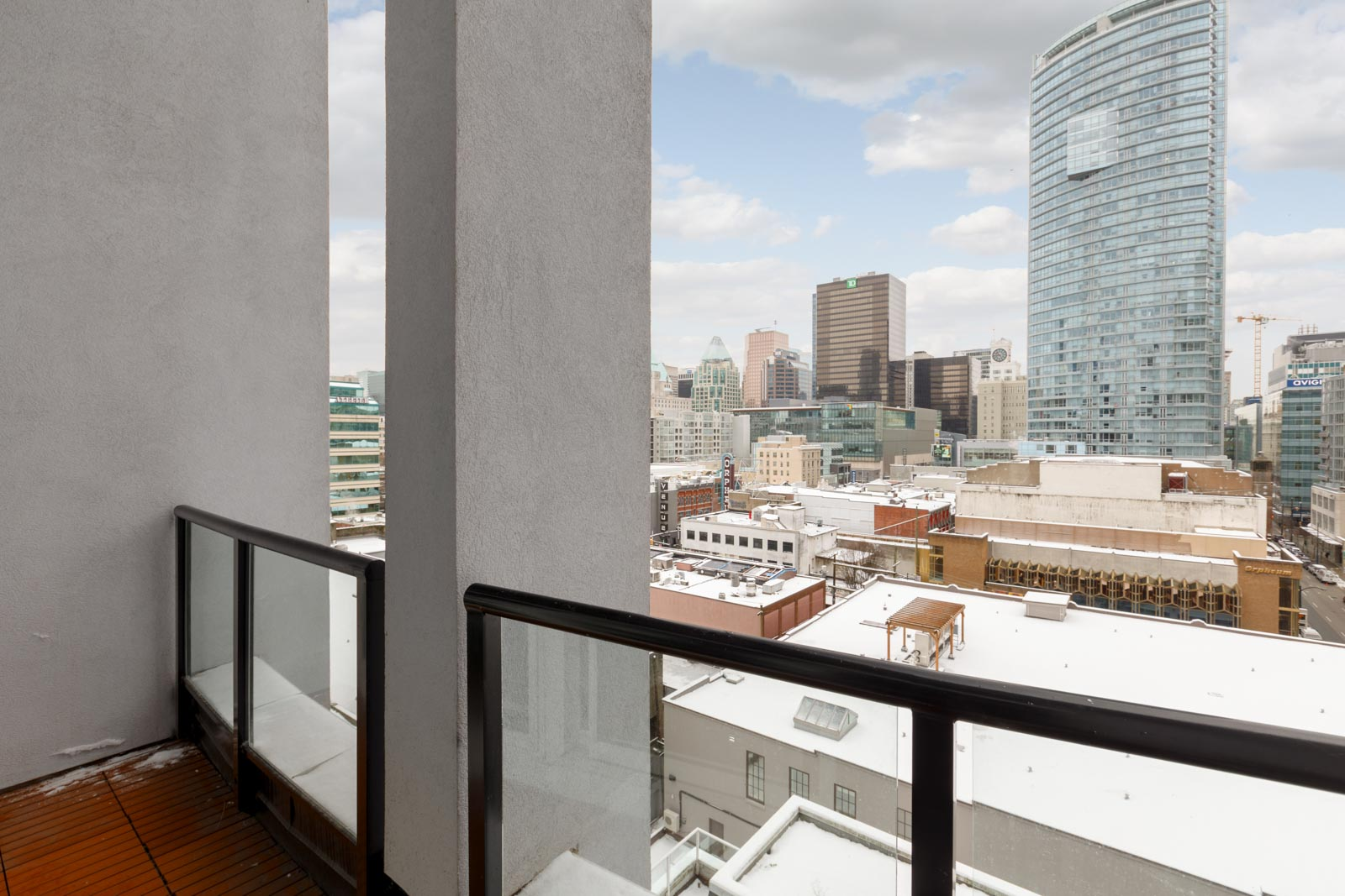 Balcony with View to Downtown Vancouver