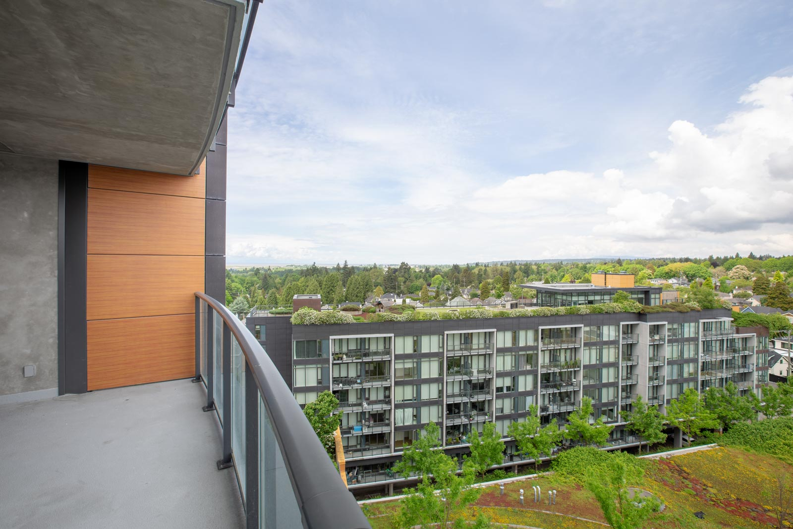 View from the balcony in a rental condo in Vancouver offered by Birds Nest Properties
