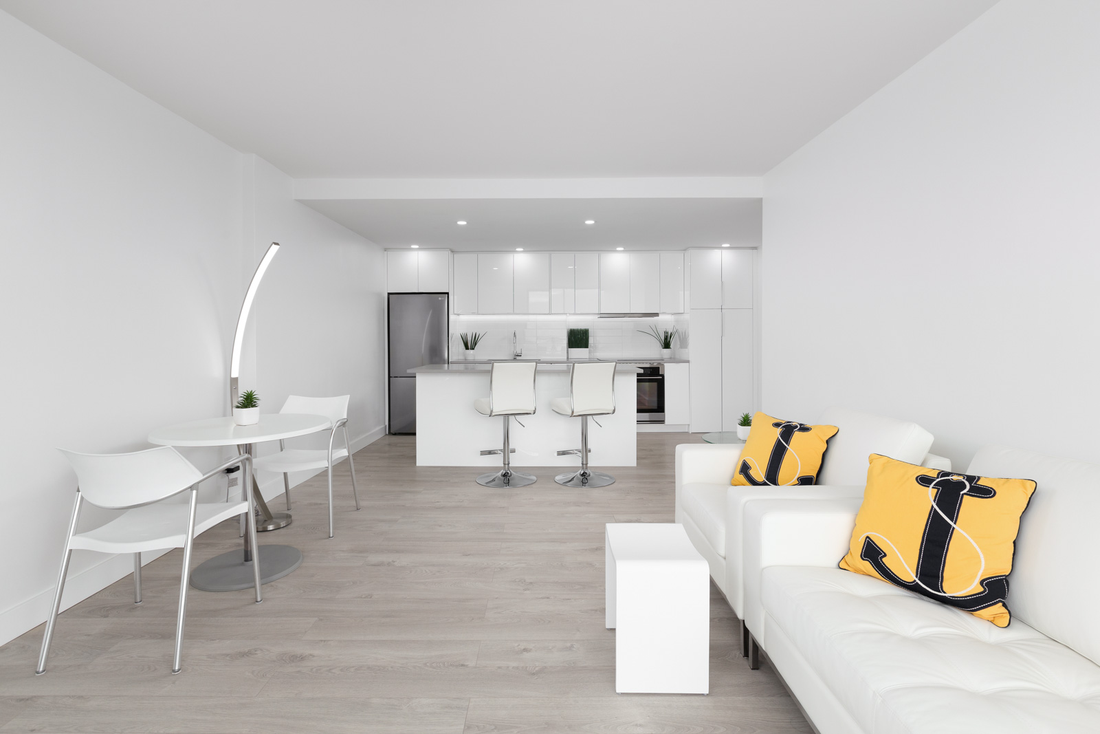 living room and kitchen of 1 bedroom rental apartment in kitsilano neighbourhood of vancouver