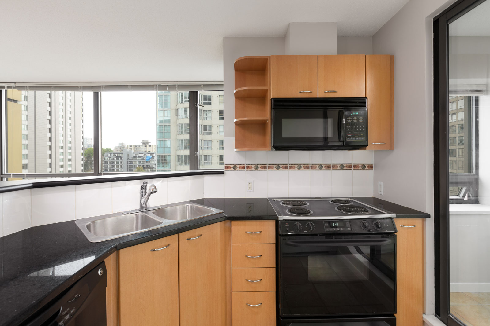 kitchen in rental condo at The Lions (East) in the Downtown neighbourhood of Vancouver