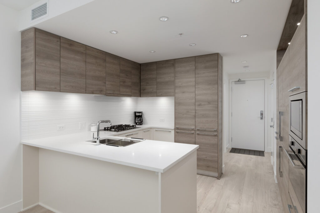 kitchen of rental condo at kings crossing three in burnaby highgate village