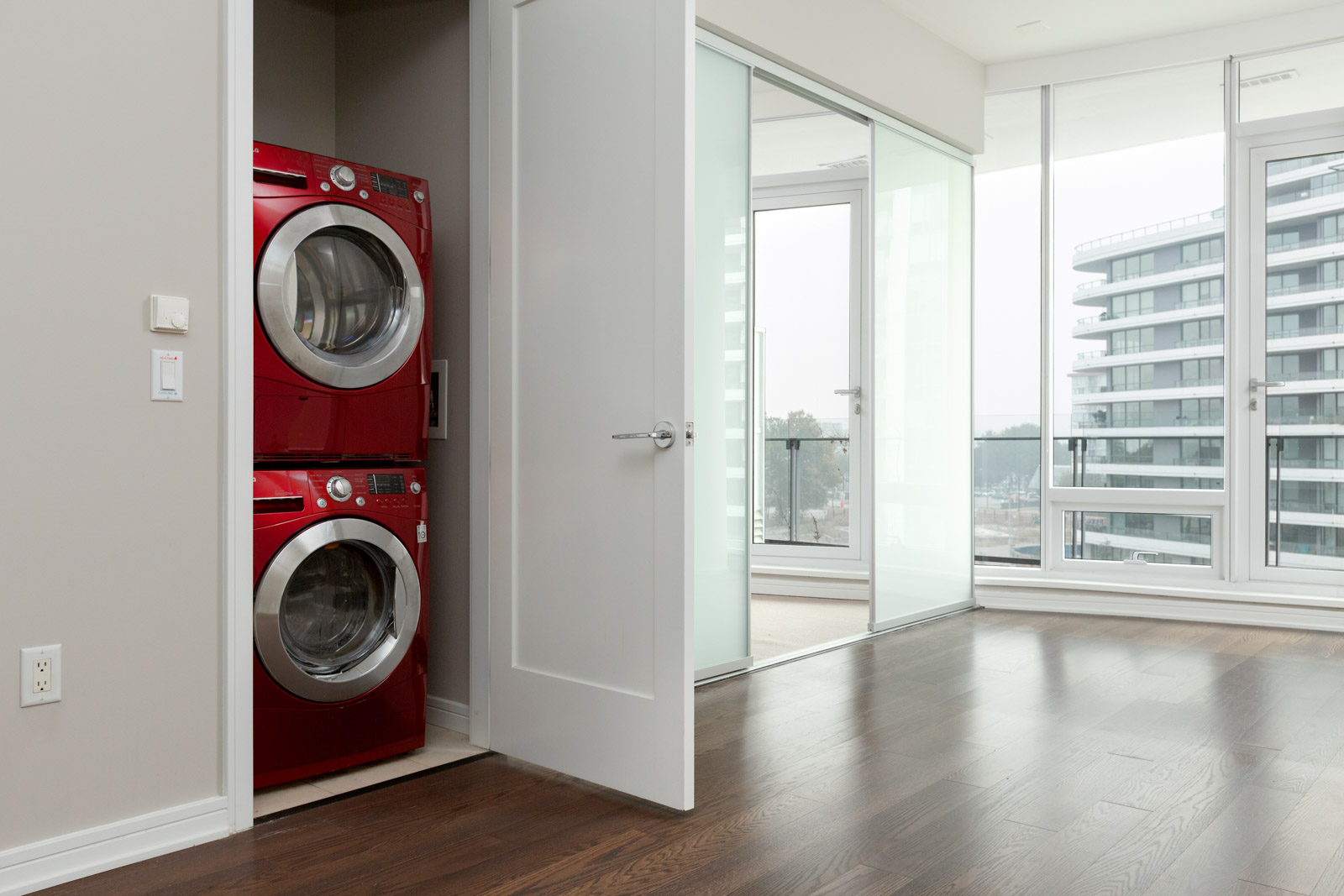 in-suite laundry and dryer at 1633 ontario street vancoiver condo olympic village