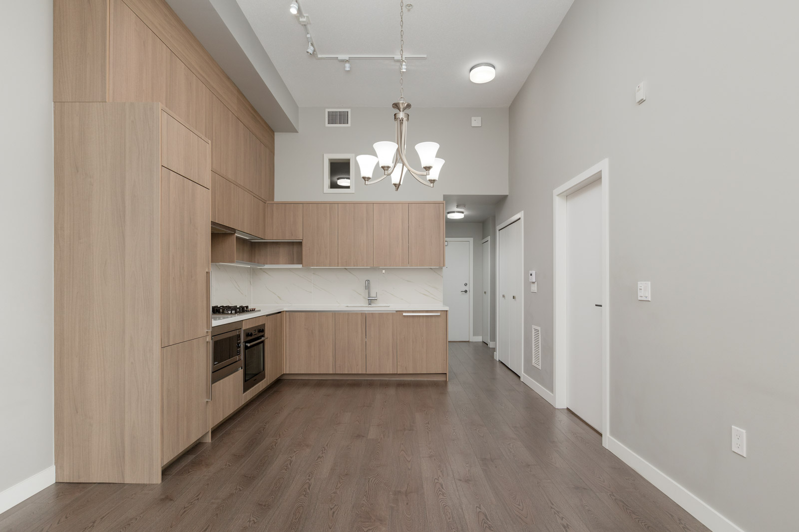 kitchen in rental townhome at Omega in the Cambie + Marine neighbourhood of Richmond