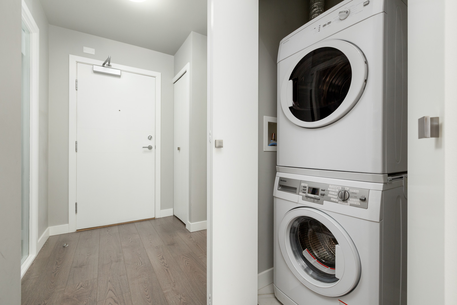 In suite washer and dryer rental unit in Richmond, Vancouver, British Columbia