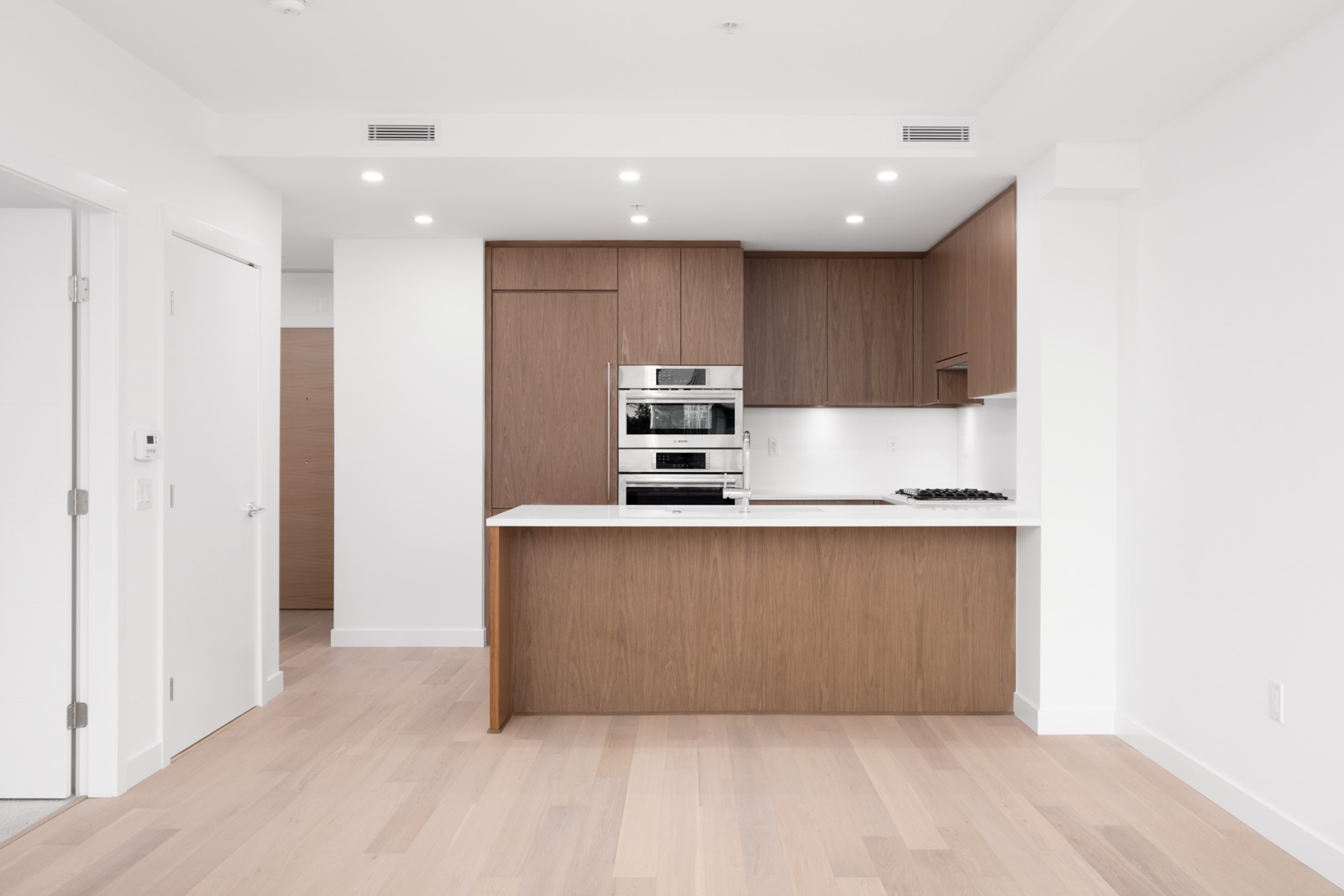 kitchen in rental condo at Hawthorne in the Cambie Corridor neighbourhood of Vancouver