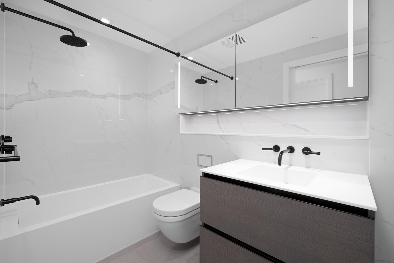 bathroom in rental condo with birds nest properties property management in vancouver