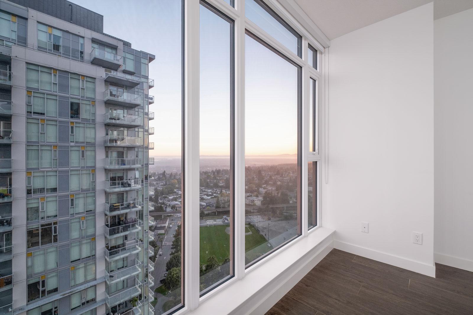 view of clear skies in rental condo in the metrotown neighborhood of Burnaby