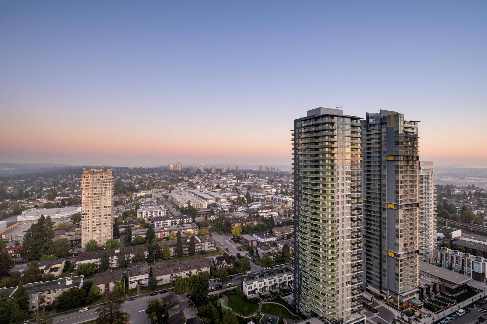 rooftop view of 6538 nelson avenue in burnaby
