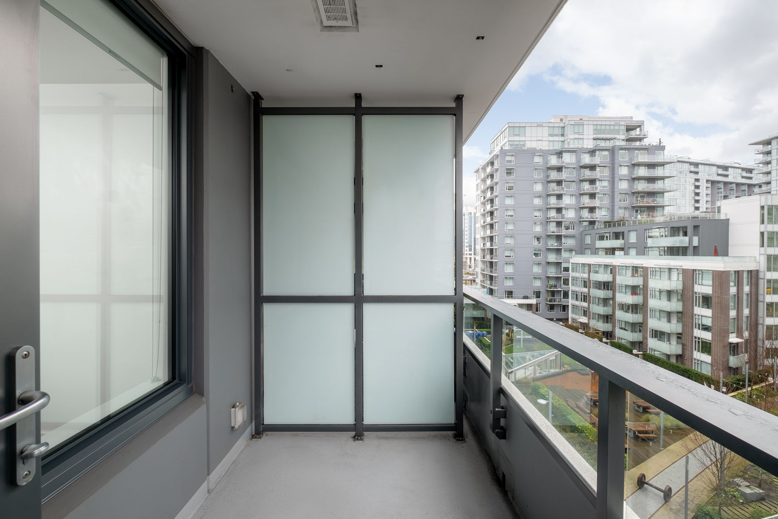 balcony of rental condo with property management by birds nest properties in vancouver canada