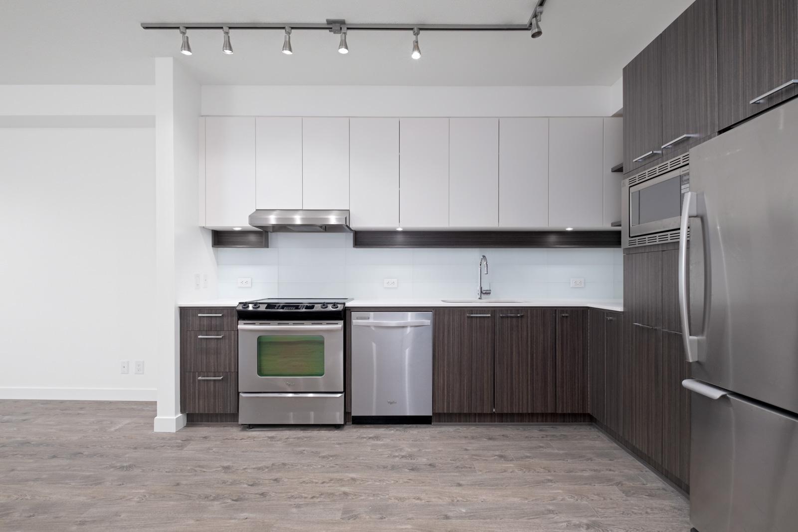 kitchen in rental condo with Birds Nest Properties property management in Coquitlam