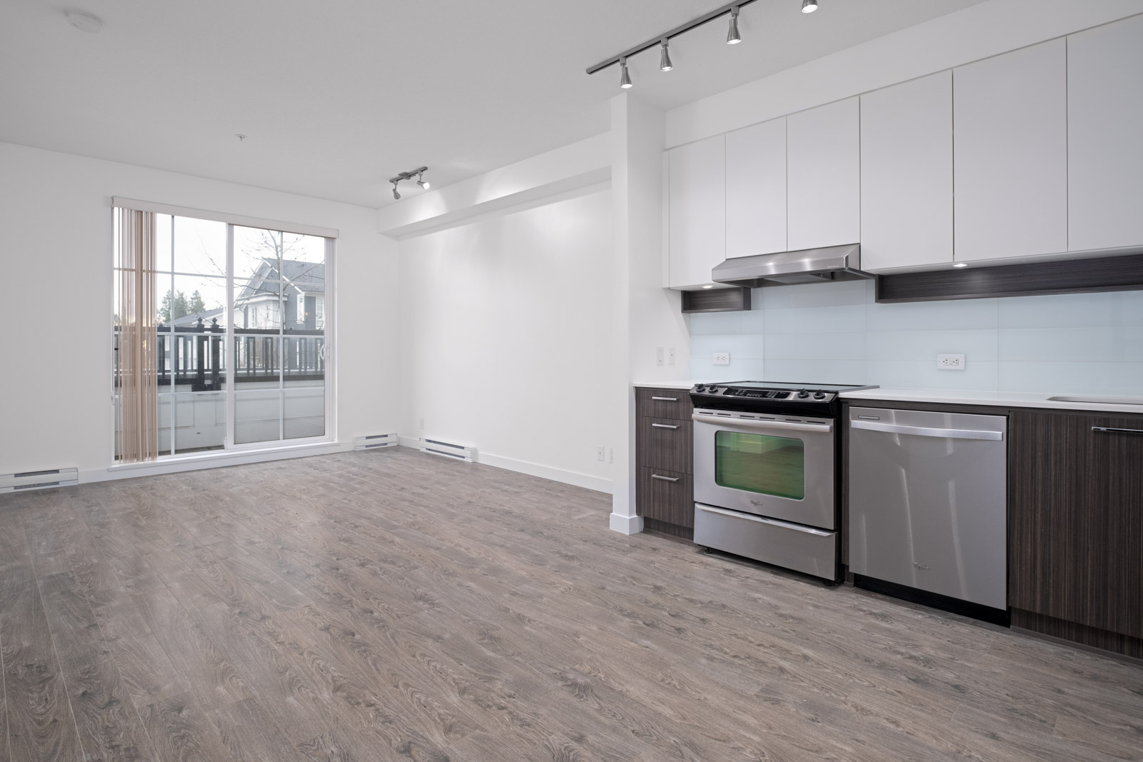 kitchen in rental condo at Foster East in the Lougheed Town Centre neighbourhood of Coquitlam
