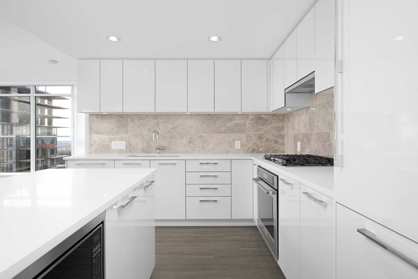 kitchen in rental condo at Vittorio by Polygon with Birds Nest Properties property management in Burnaby