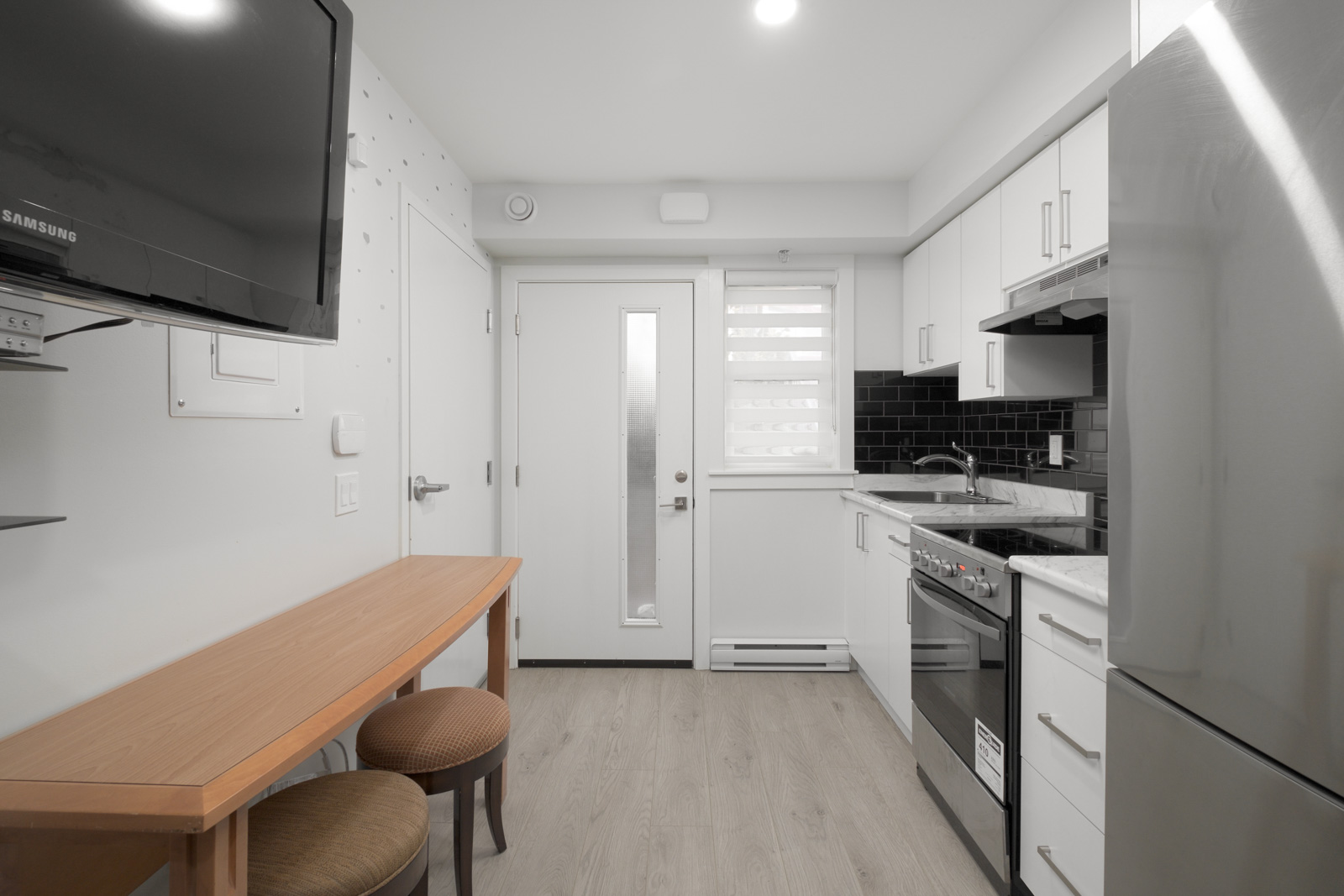 kitchen in rental house in the norquay neighbourhood of east Vancouver