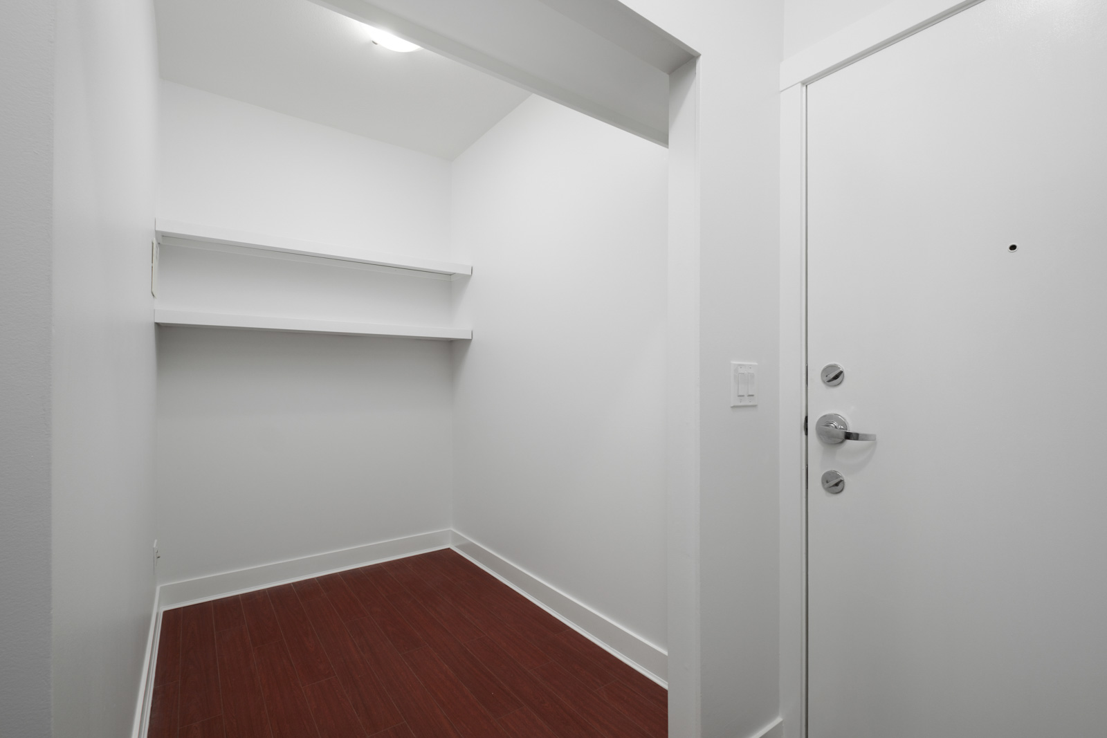storage closet space in garden level apartment in alexandra house in shaughnessy of vancouver westside