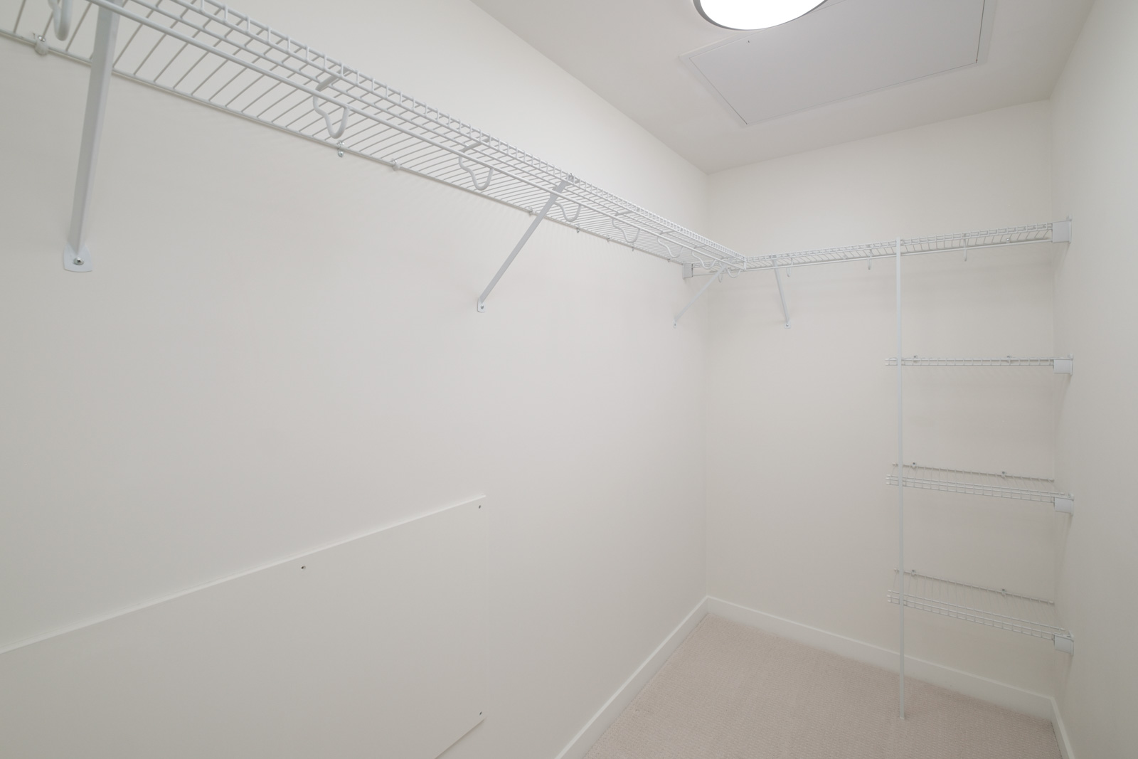 Spacious closet space in rental condo with Birds Nest Properties