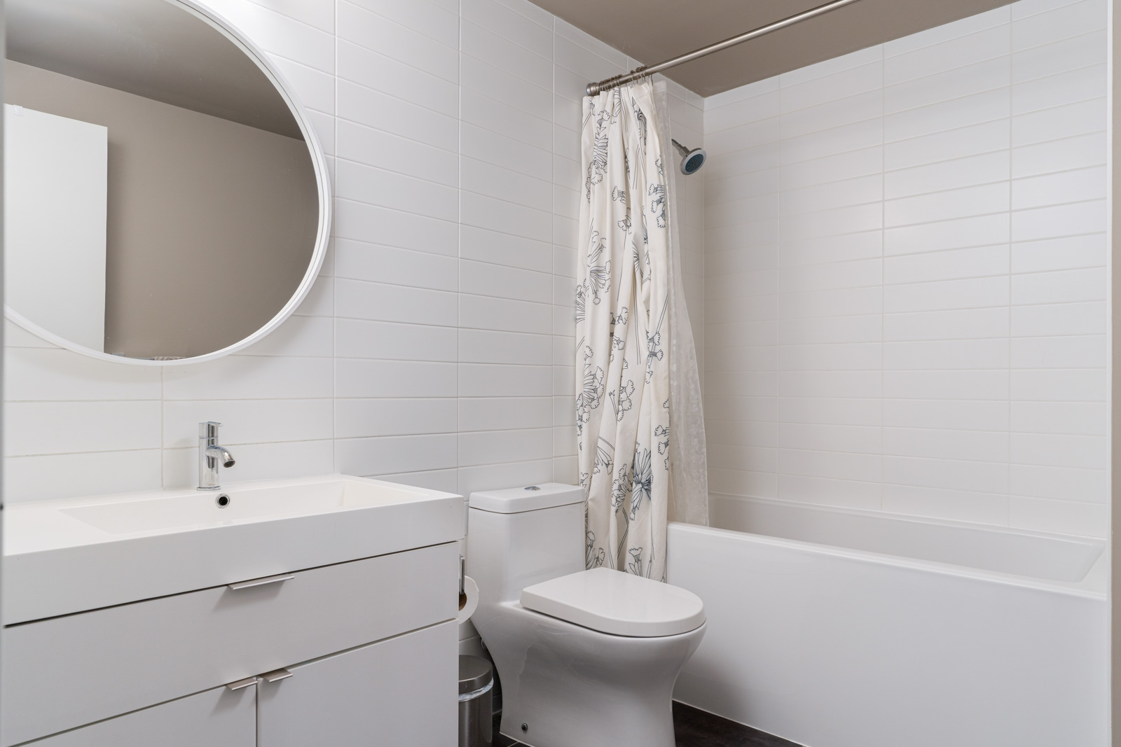 bathroom with tiles in shine at Mount pleasant vancouver