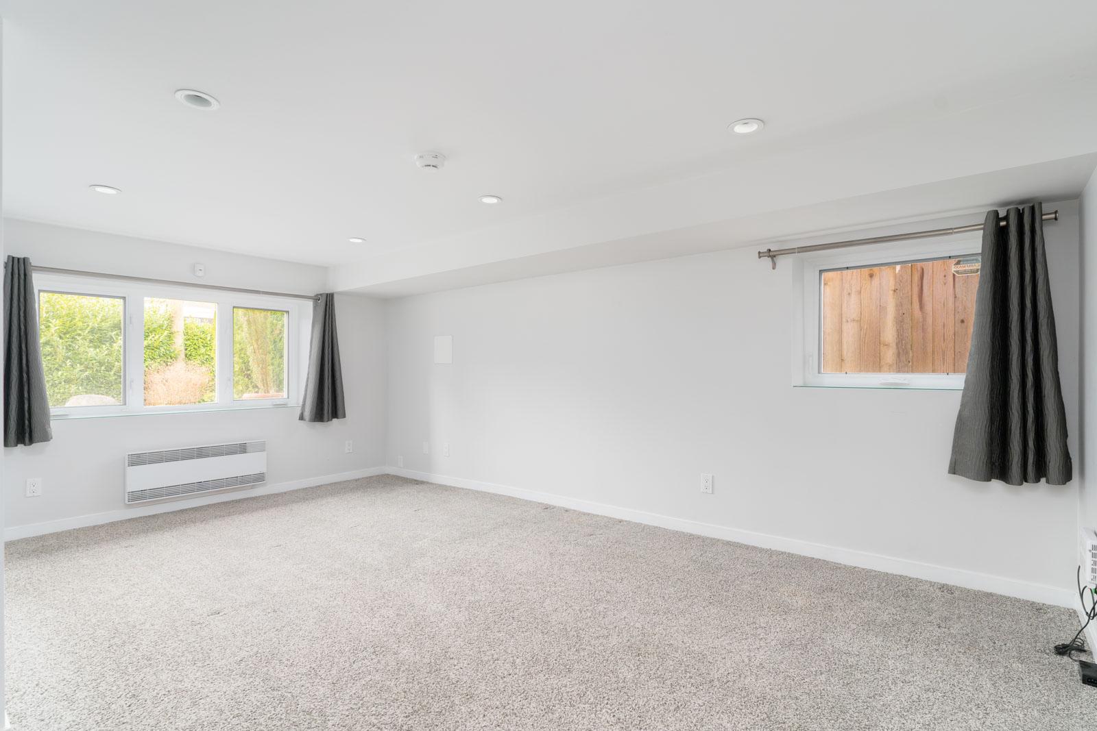living room in rental basement in the Kitsalano neighbourhood of Vancouver