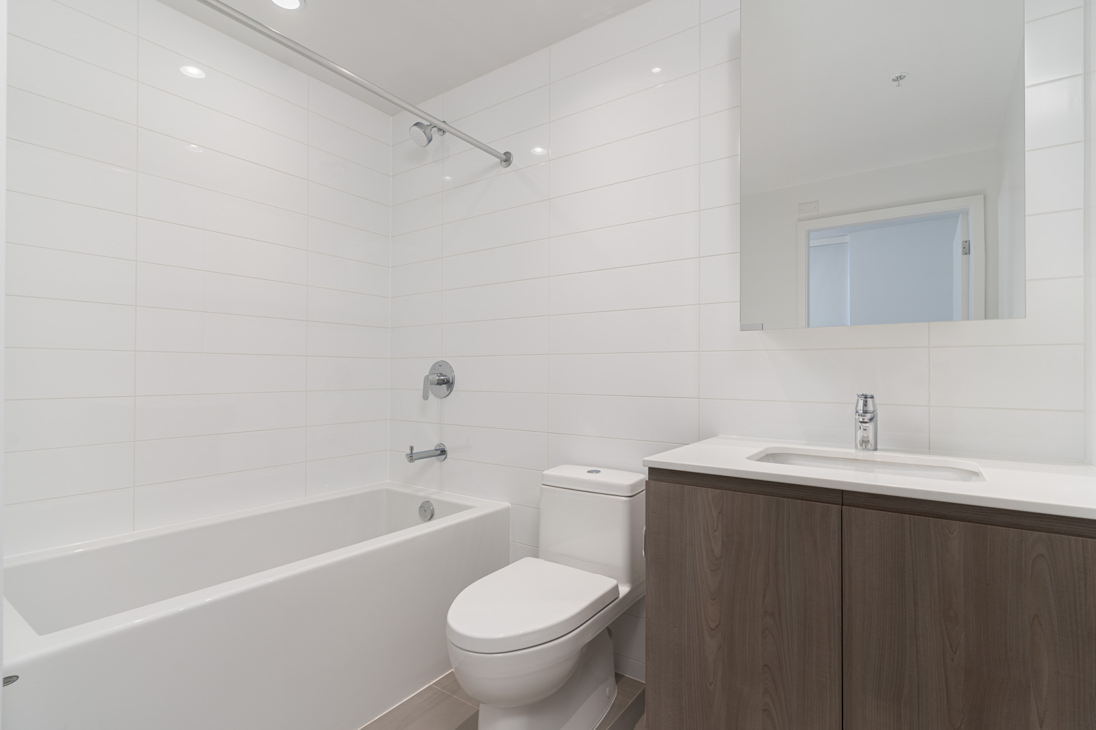 Bathroom with white walls and him/her sink