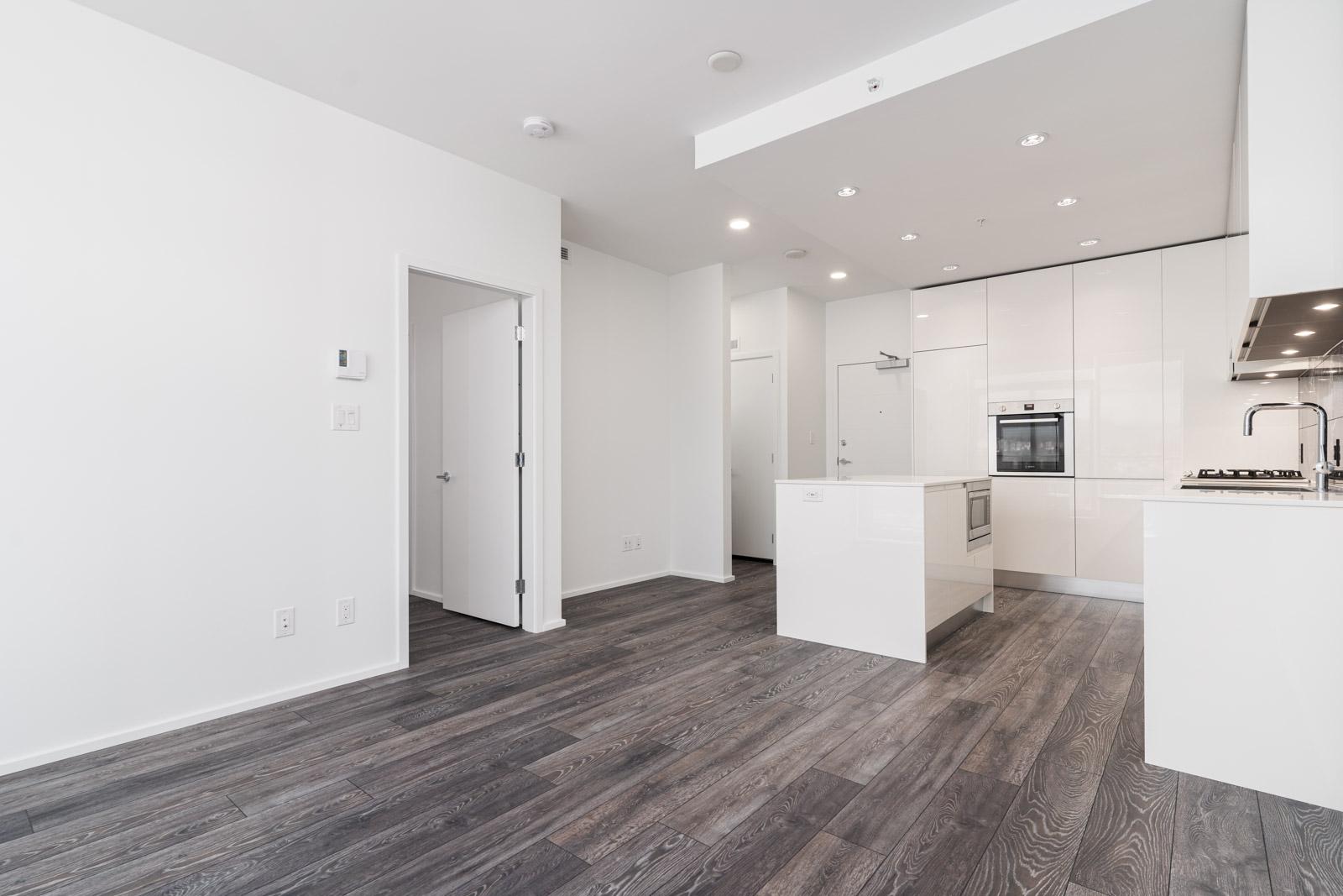 living room in rental condo in the Brentwood neighbourhood of Burnaby