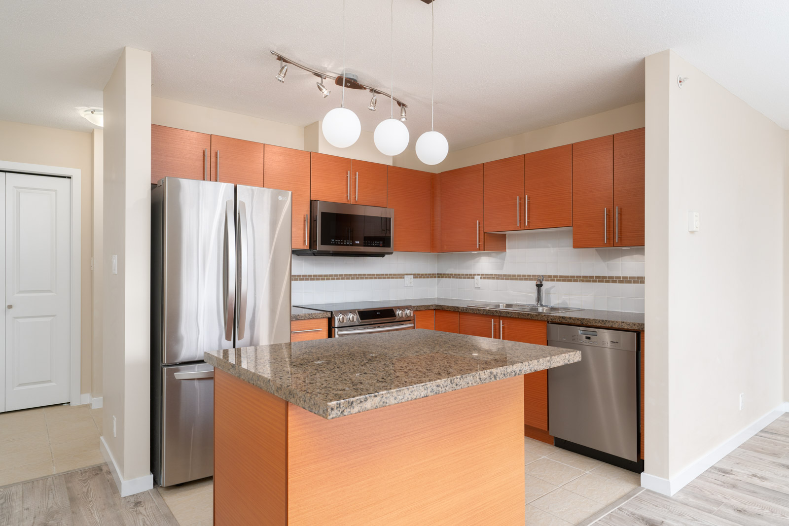 kitchen in rental condo with Birds Nest Properties property management in metro Vancouver