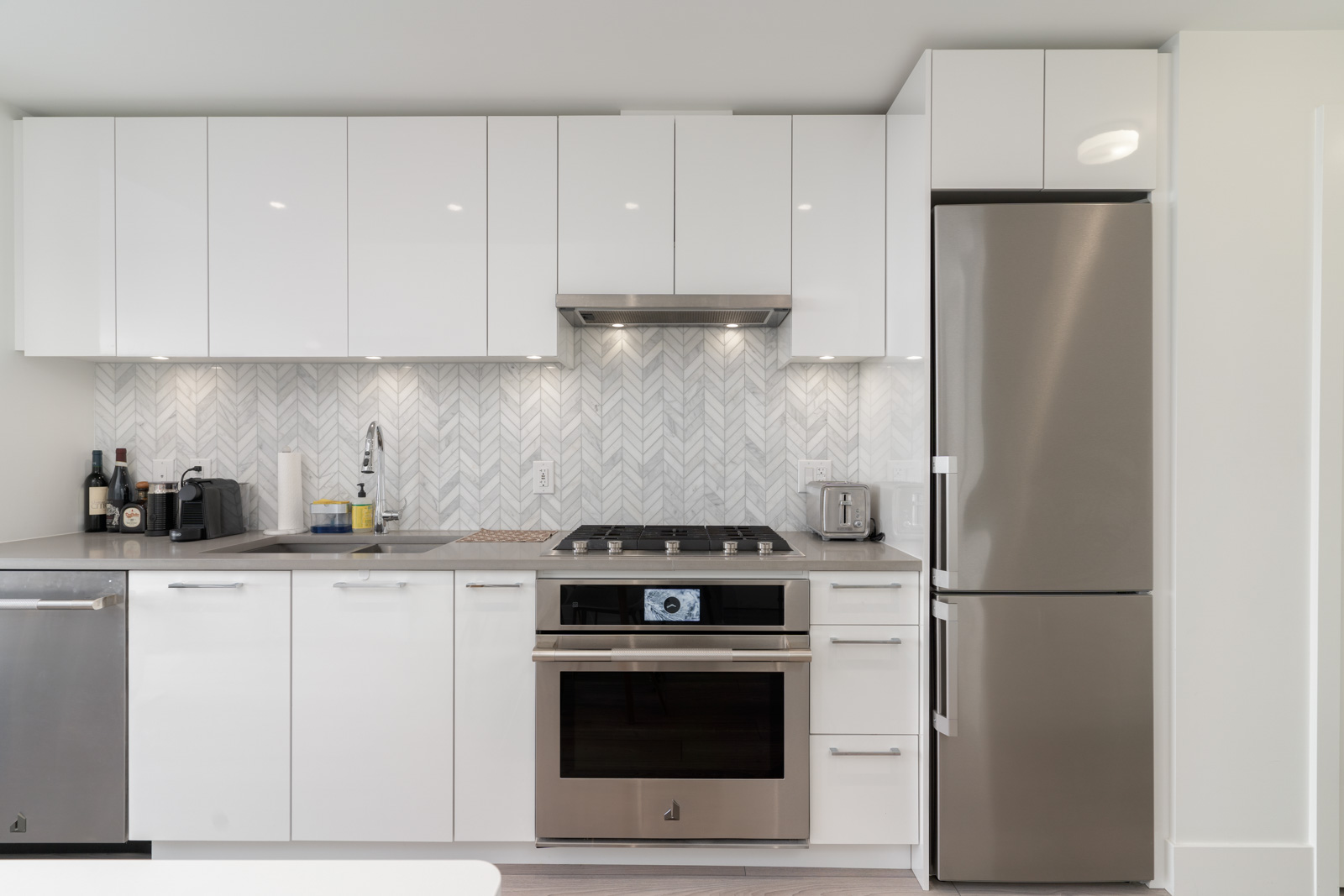 kitchen in rental condo with Birds Nest Properties property management in vancouver