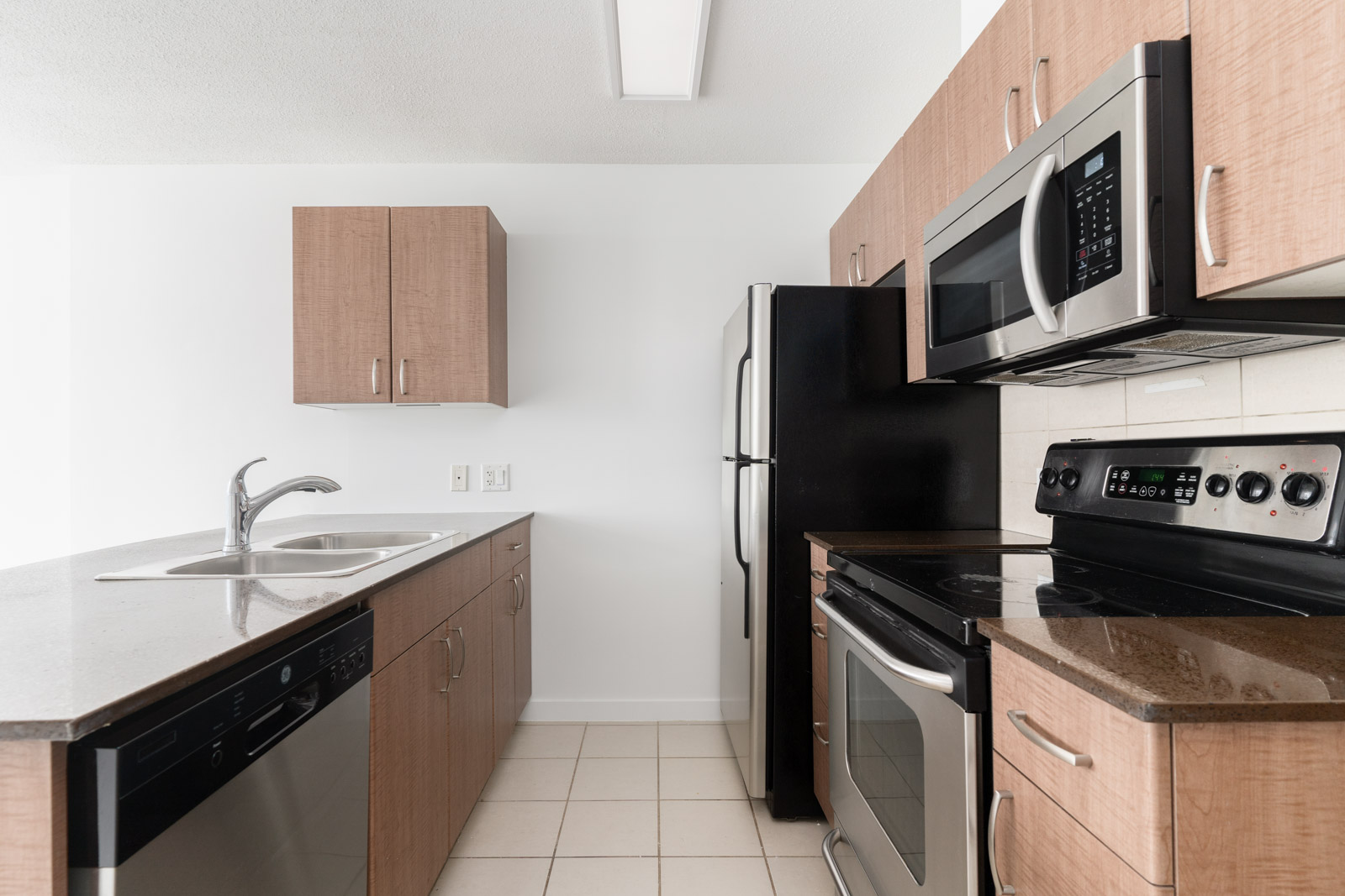 kitchen with all essential appliances