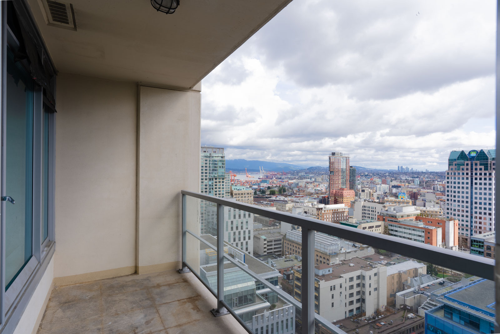 Balcony with view of downtown Vancouver