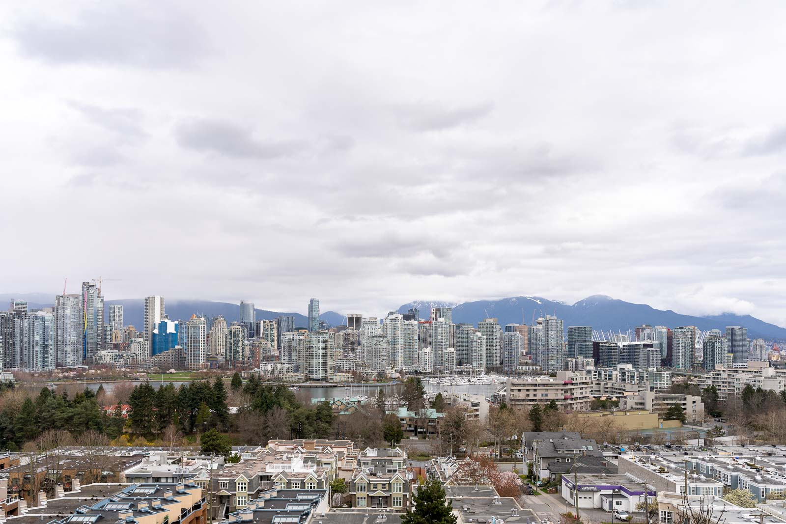 view from Fairview condo to downtown Vancouver