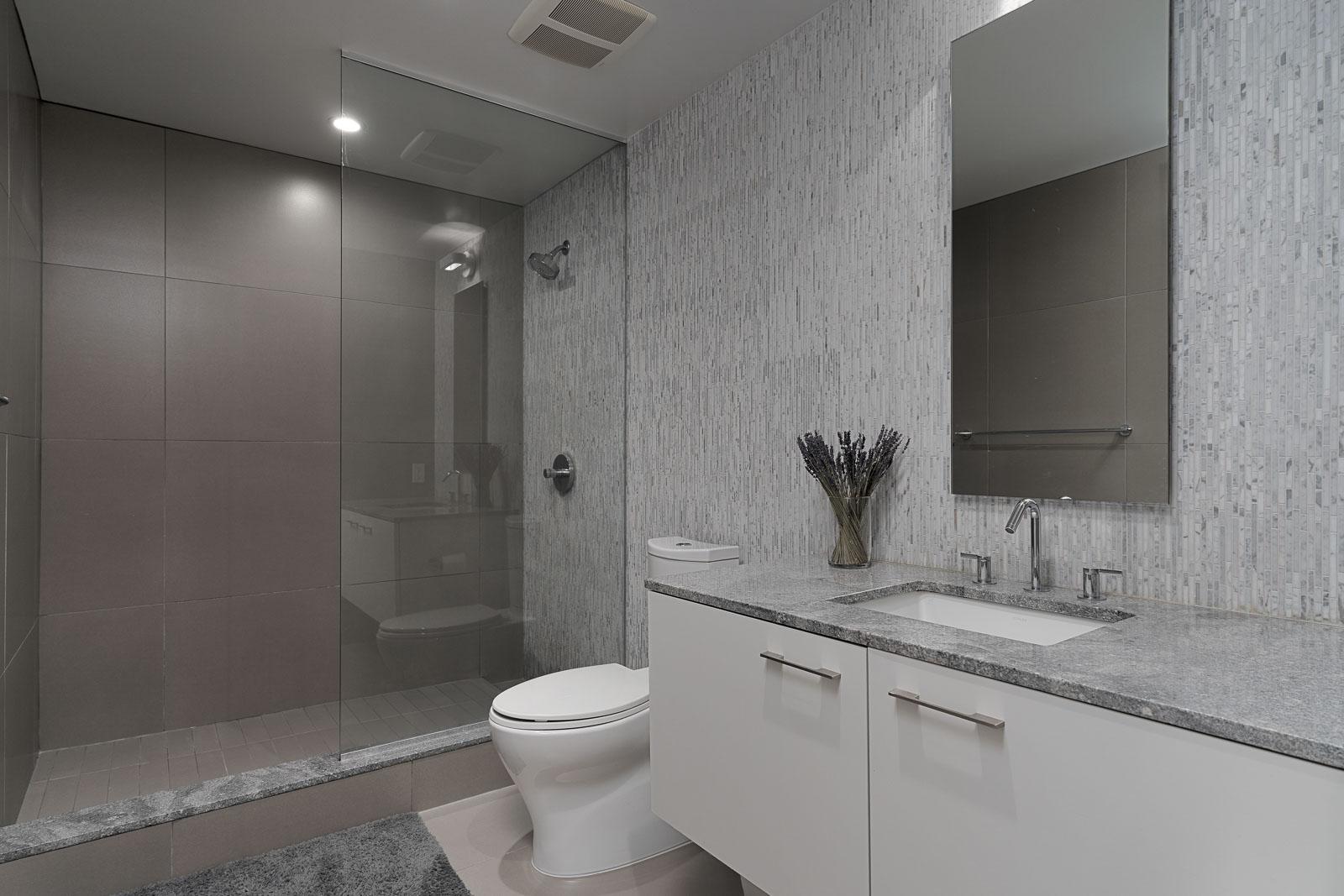 spa-like bathroom in Vancouver condo