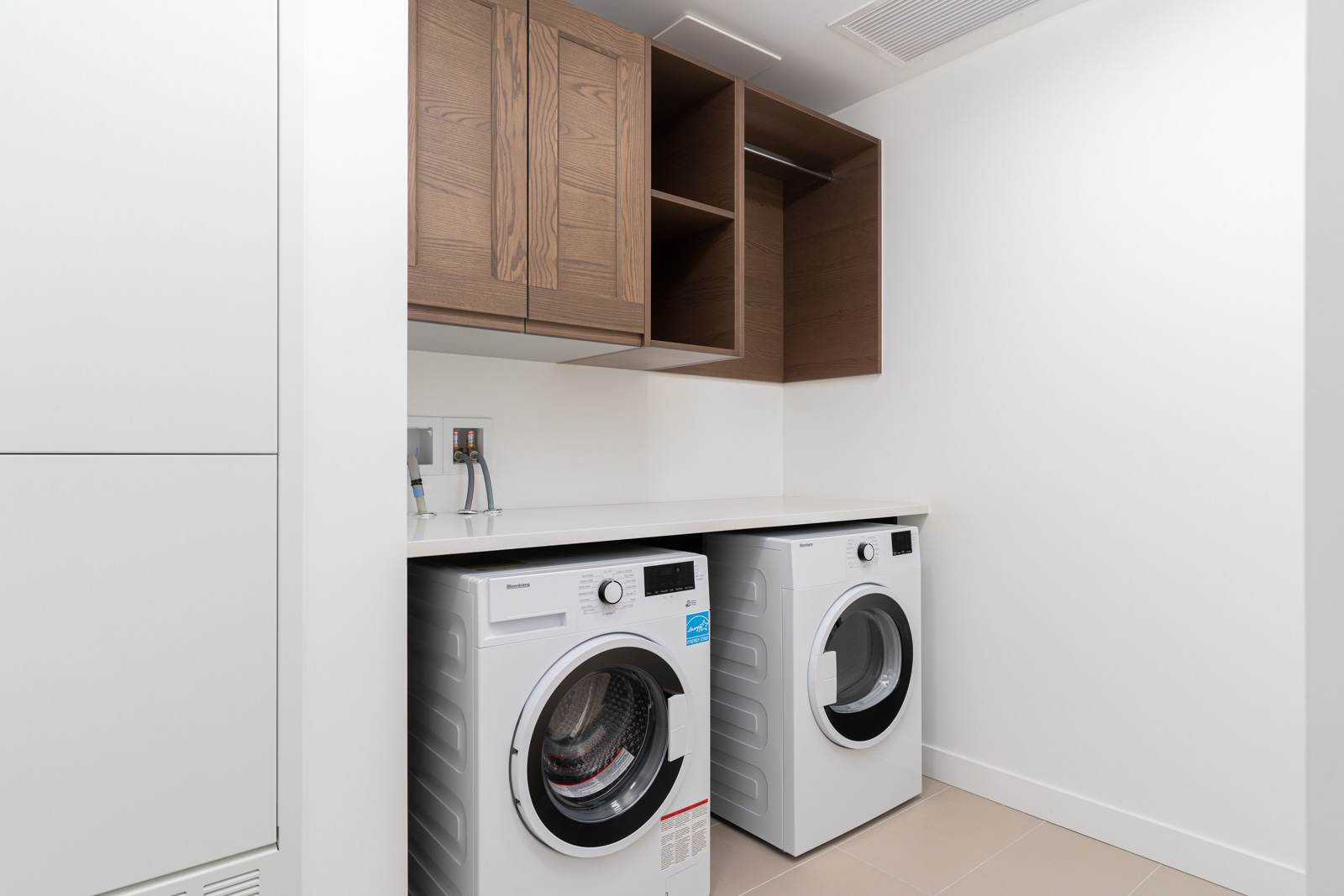 washer and dryer in suite in new condo in ivy at the park near ubc