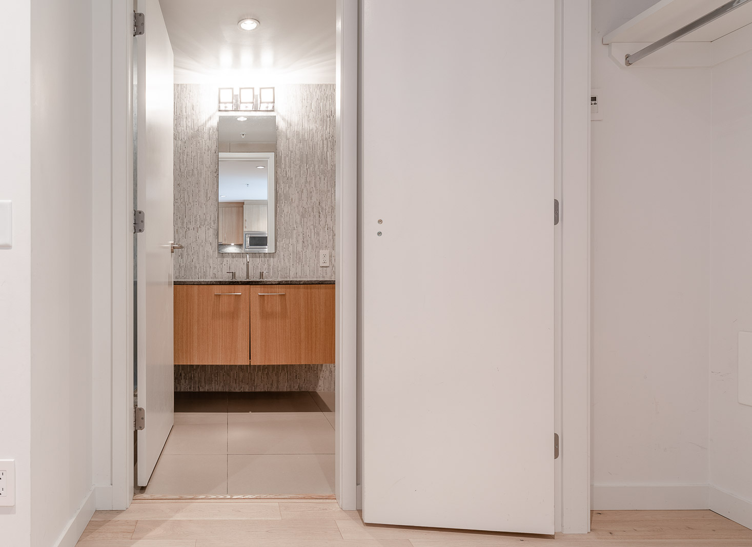 bathroom with spa-inspired finishes at 700WEST8TH