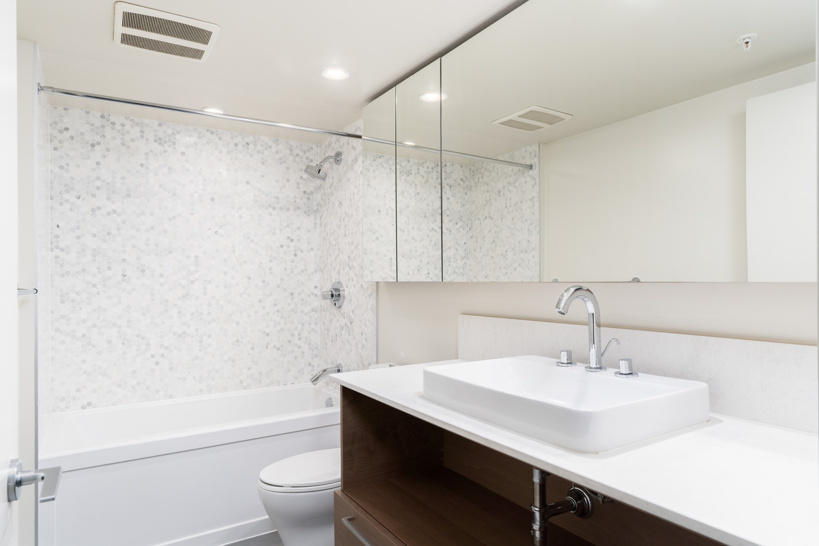 bathroom with all the basic amenities in a home managed by Birds Nest Properties