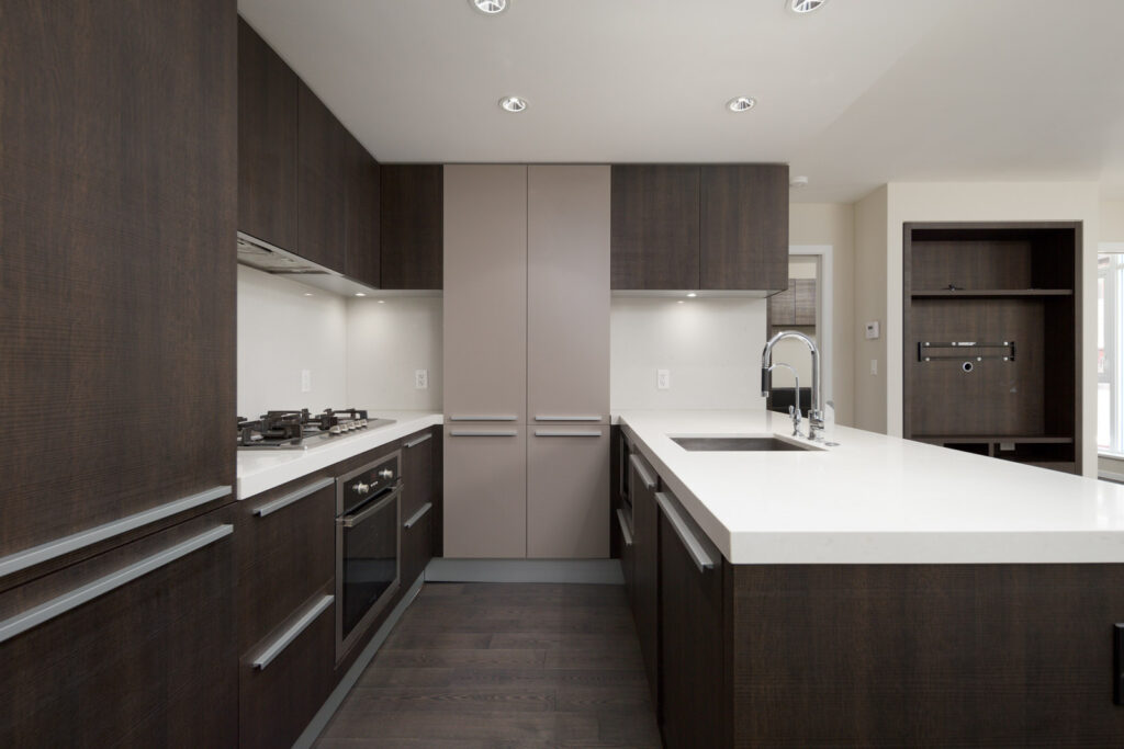 kitchen in rental condo at Maddox in the Downtown neighbourhood of Vancouver