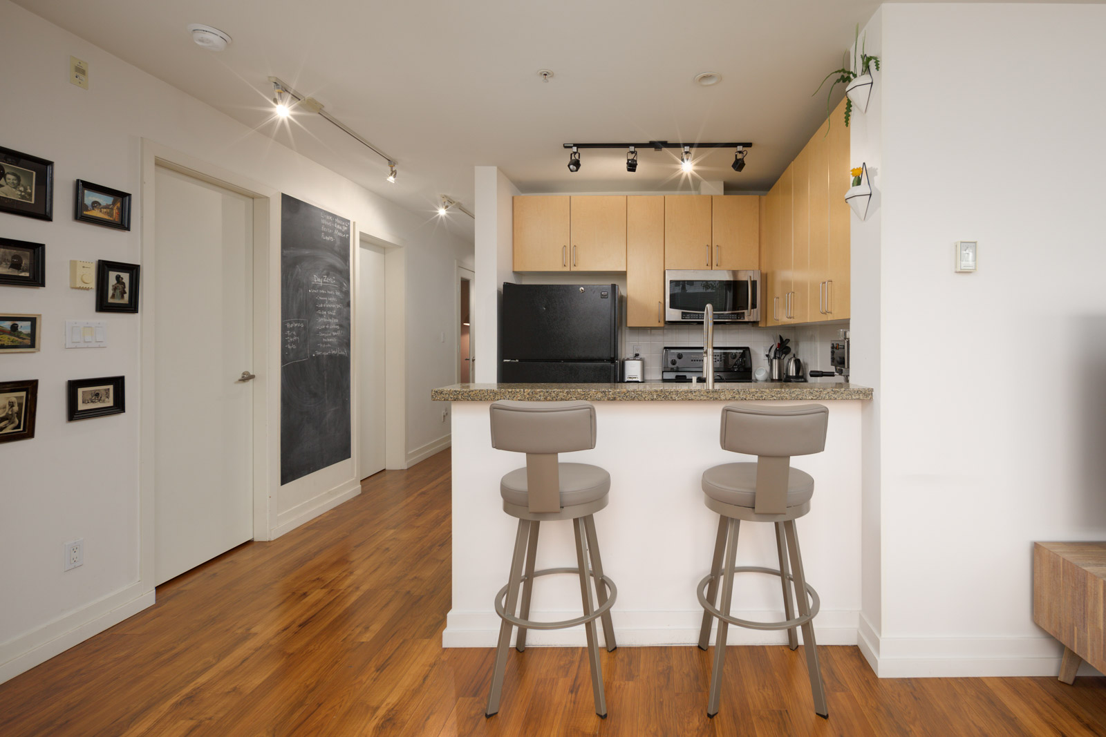 kitchen in rental condo at Arbutus Outlook in the West End neighbourhood of Vancouver
