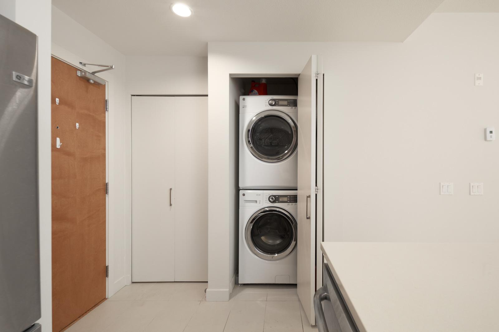 In-suite laundry in condo