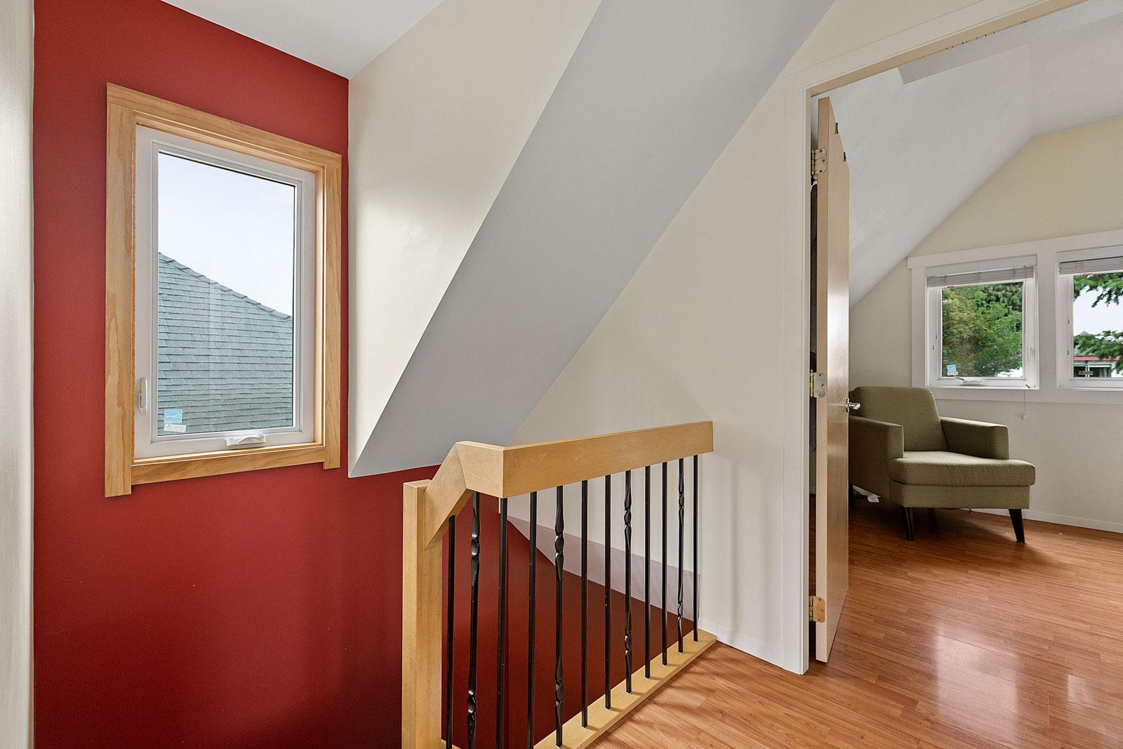 stairway from top floor in vancouver house