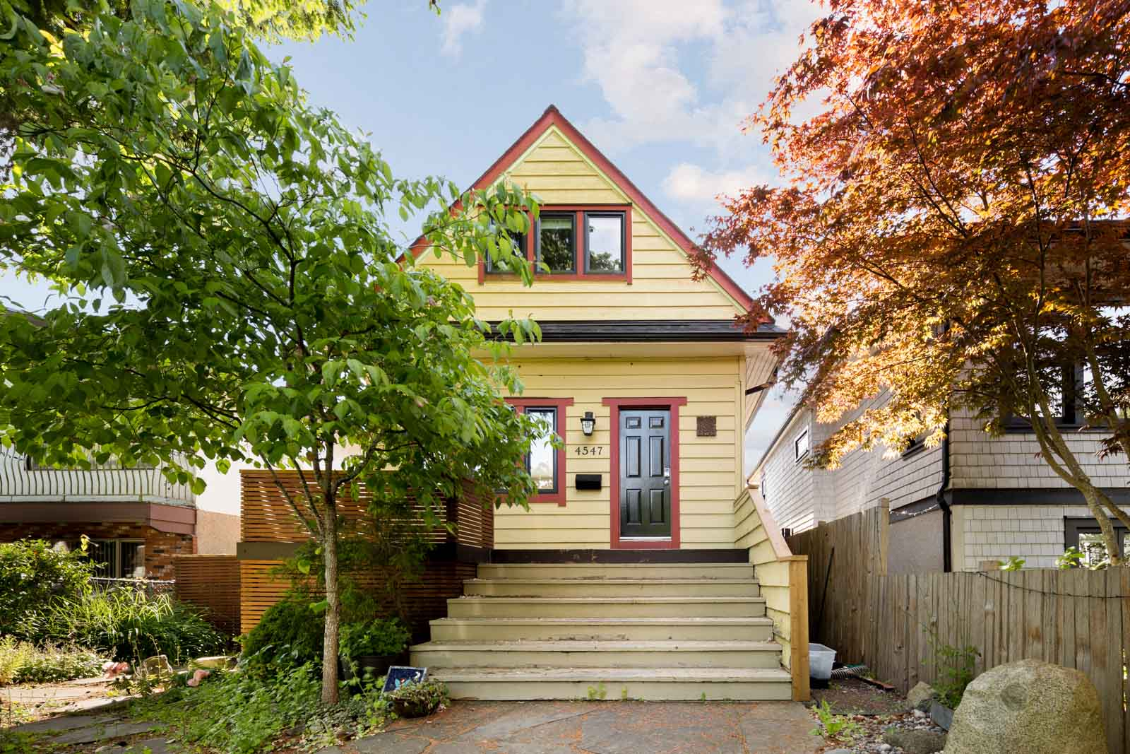 front of house with updated front porch in vancouver house