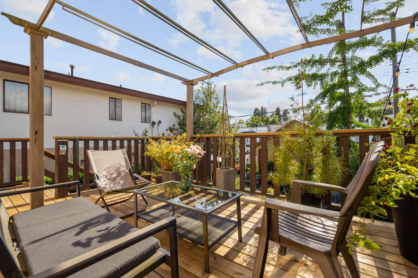 top floor patio with gazebo in vancouver home