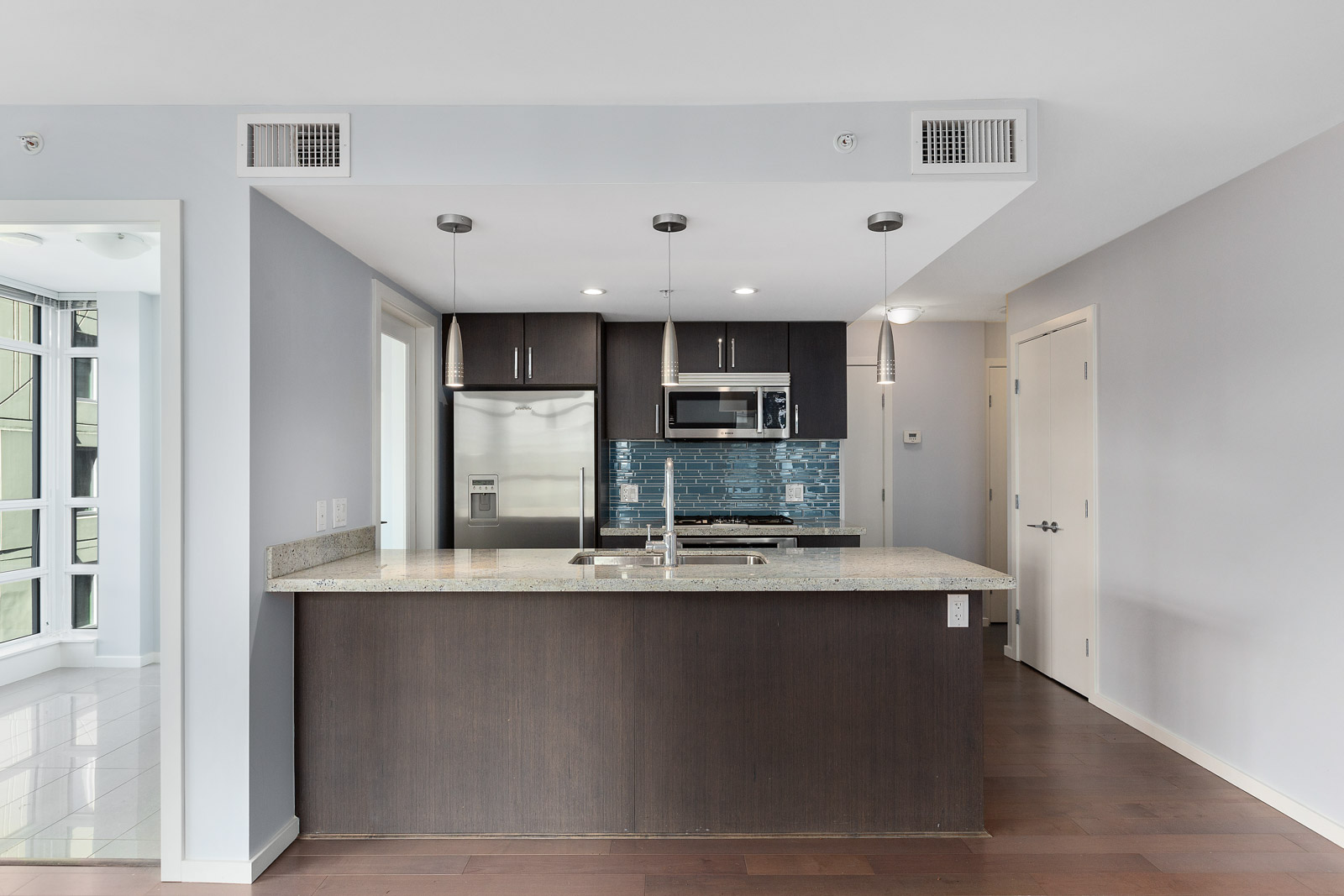 kitchen with white walls in property managed by Birds Nest Properties