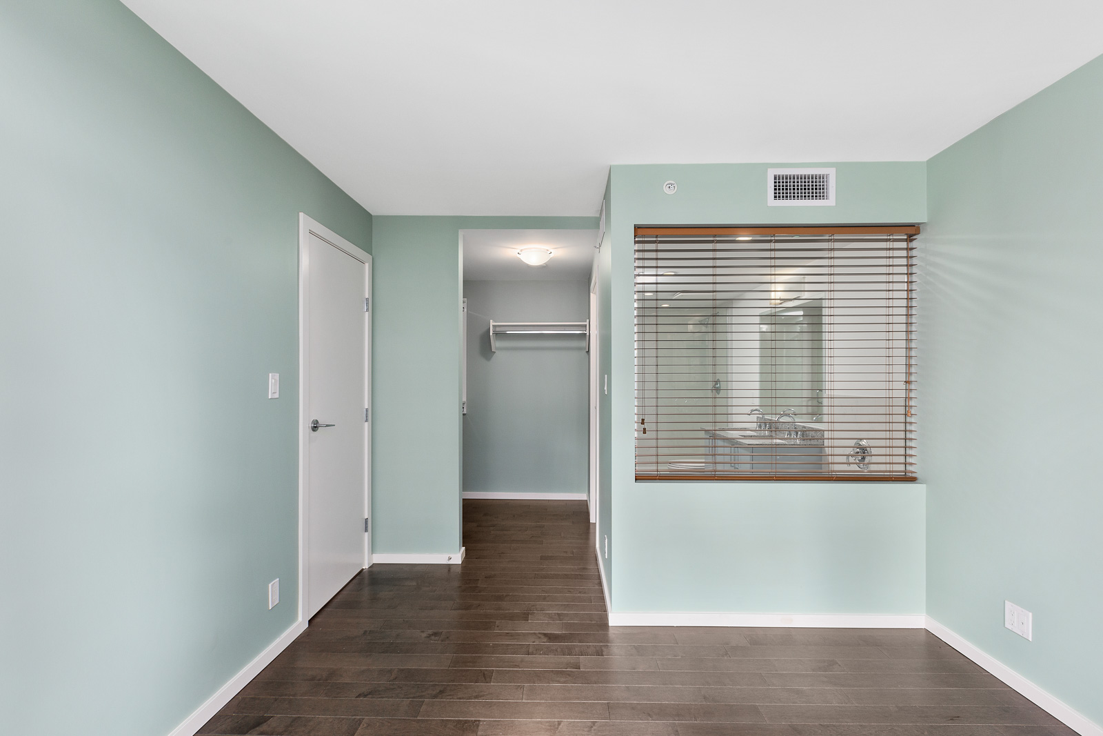 spacious master bedroom with lots of closet space