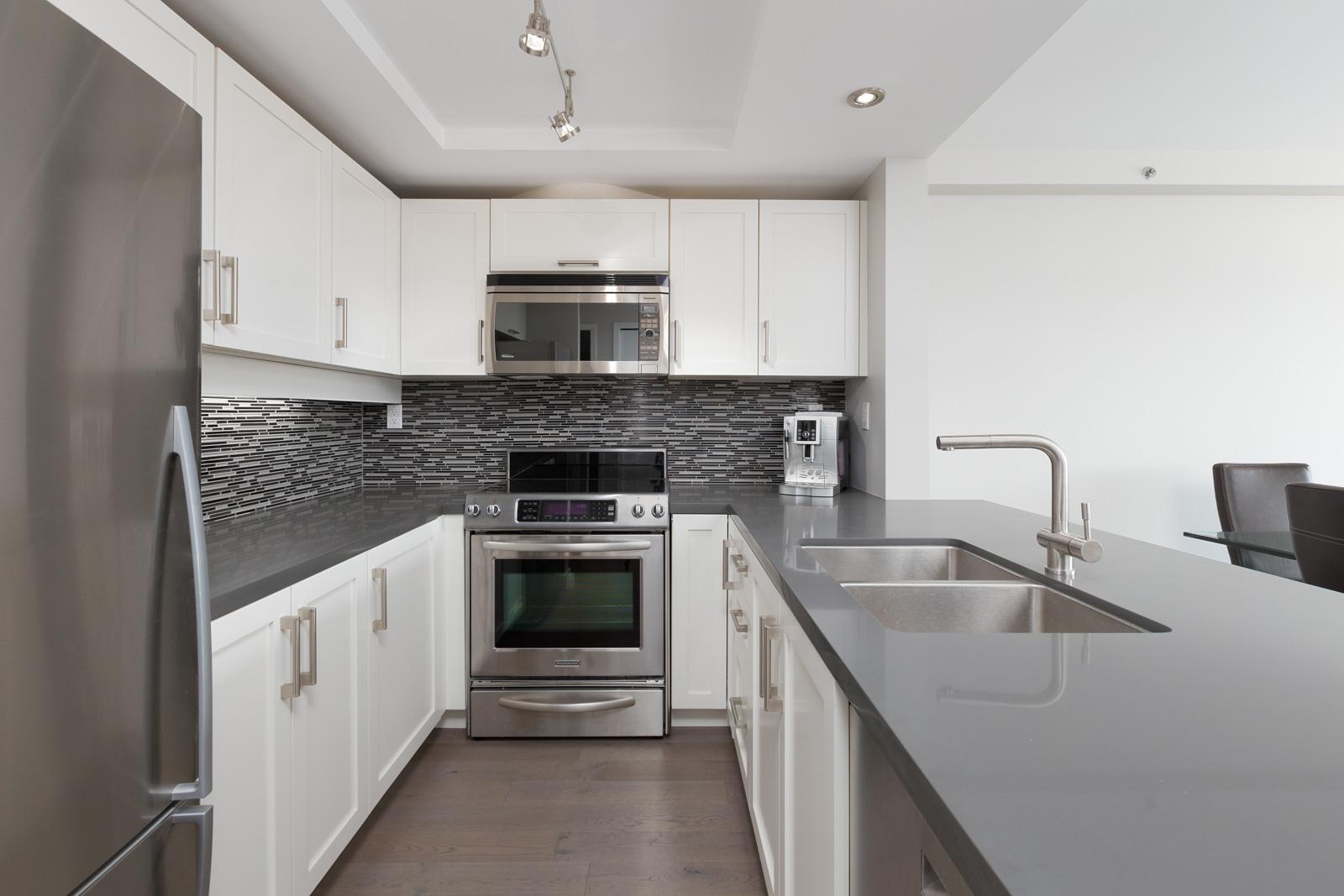 kitchen will all essential appliances