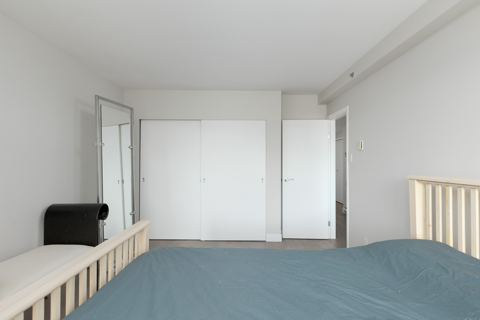 Spacious bedroom with walk-in closet in a property managed by Birds