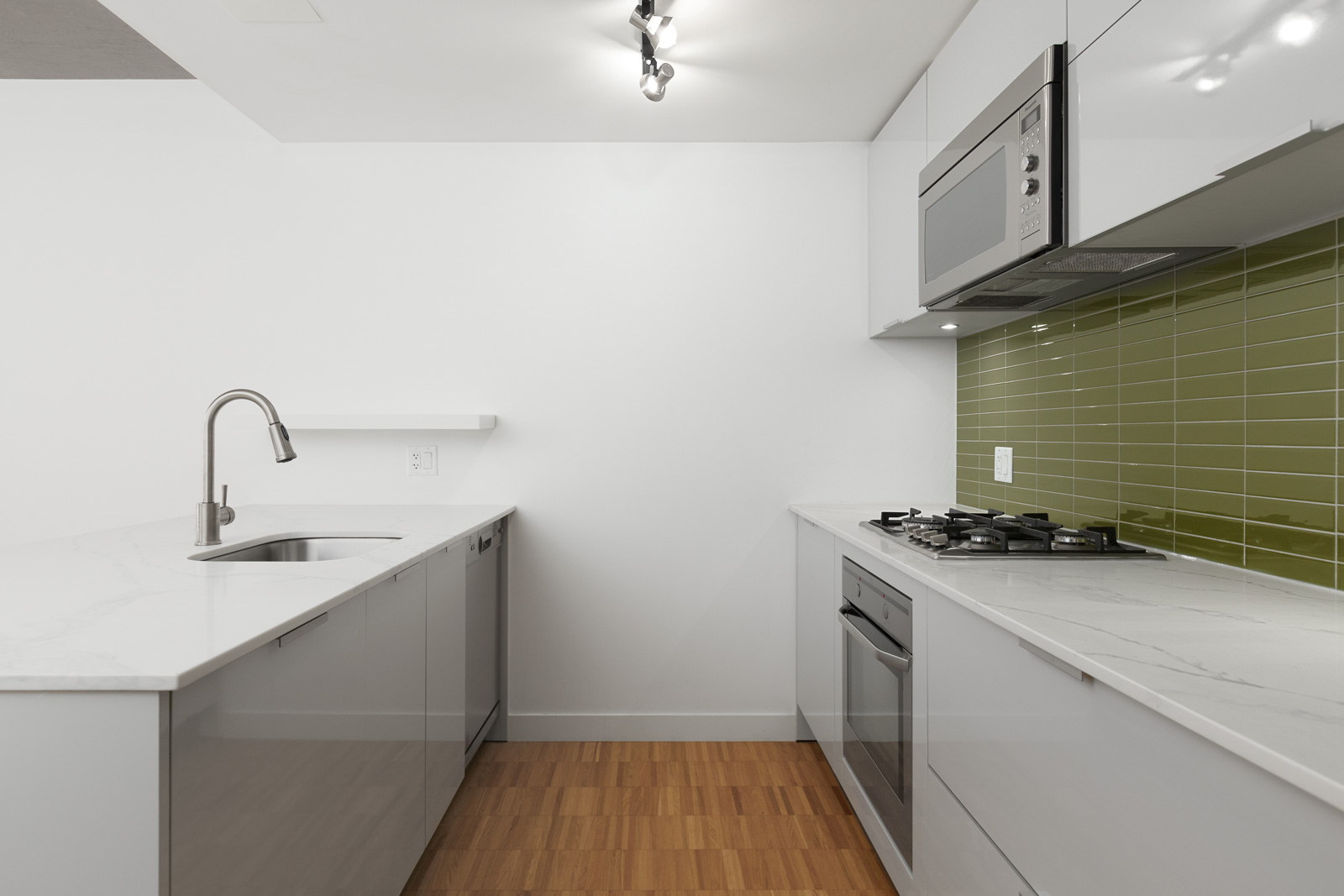 kitchen in rental condo at Woodwards in the Downtown neighbourhood of Vancouver