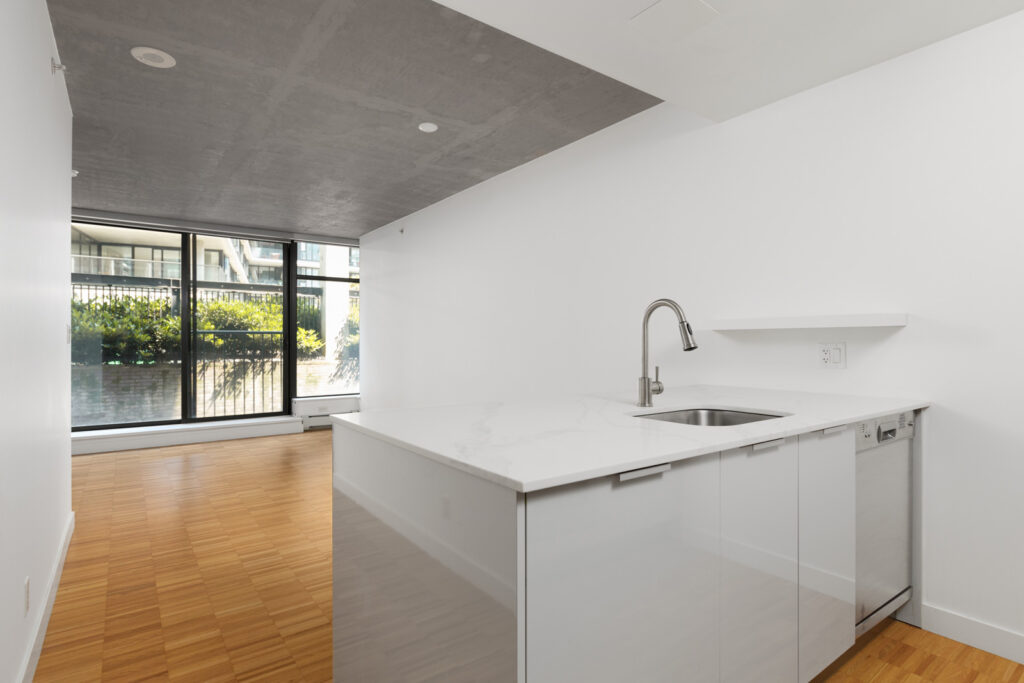 Open layout provides direct access from kitchen to living room