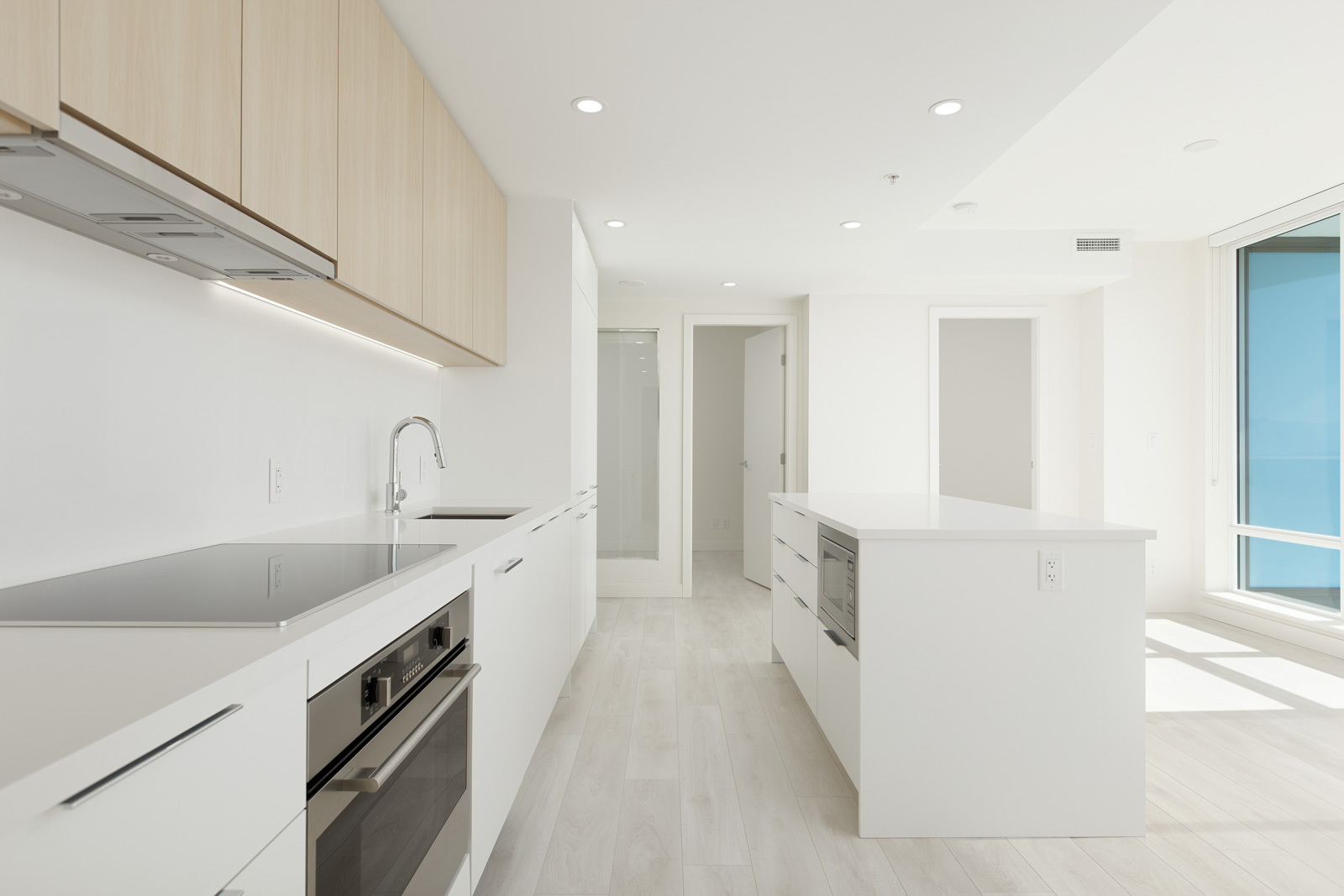 kitchen in rental condo at Linea in the Downtown neighbourhood of Surrey