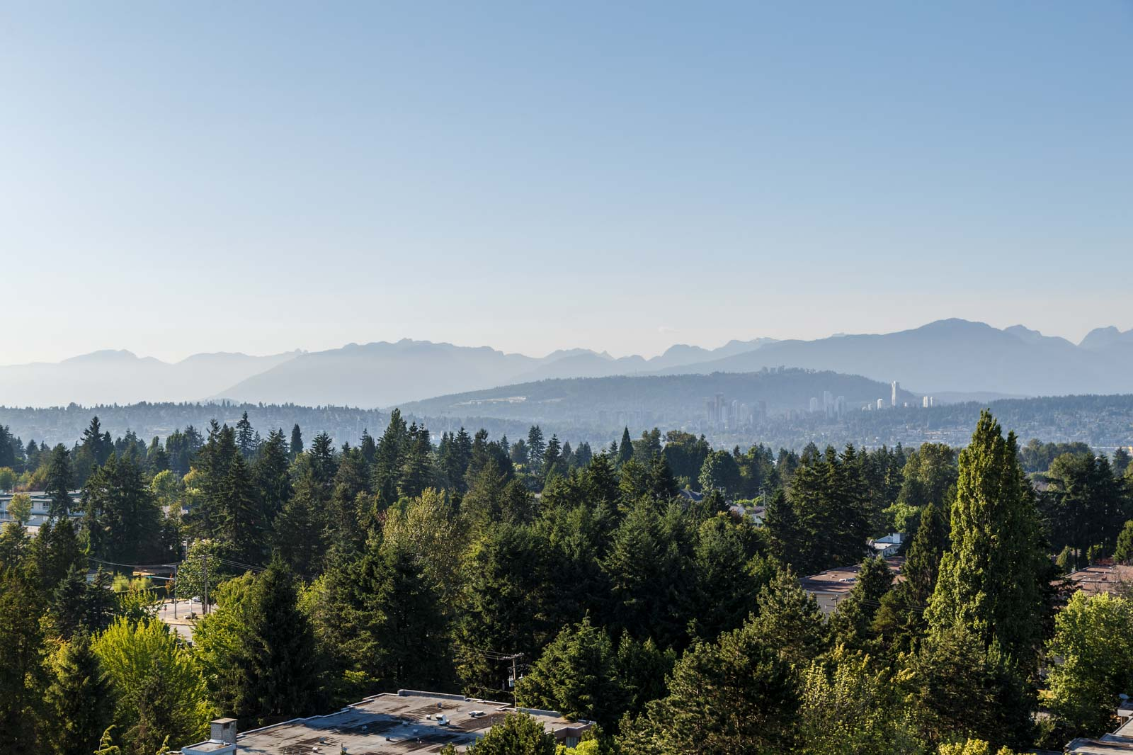 splendid view of bc's mountain range