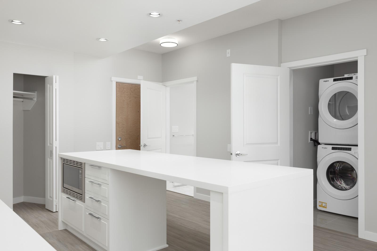 white furnishing in highend condo