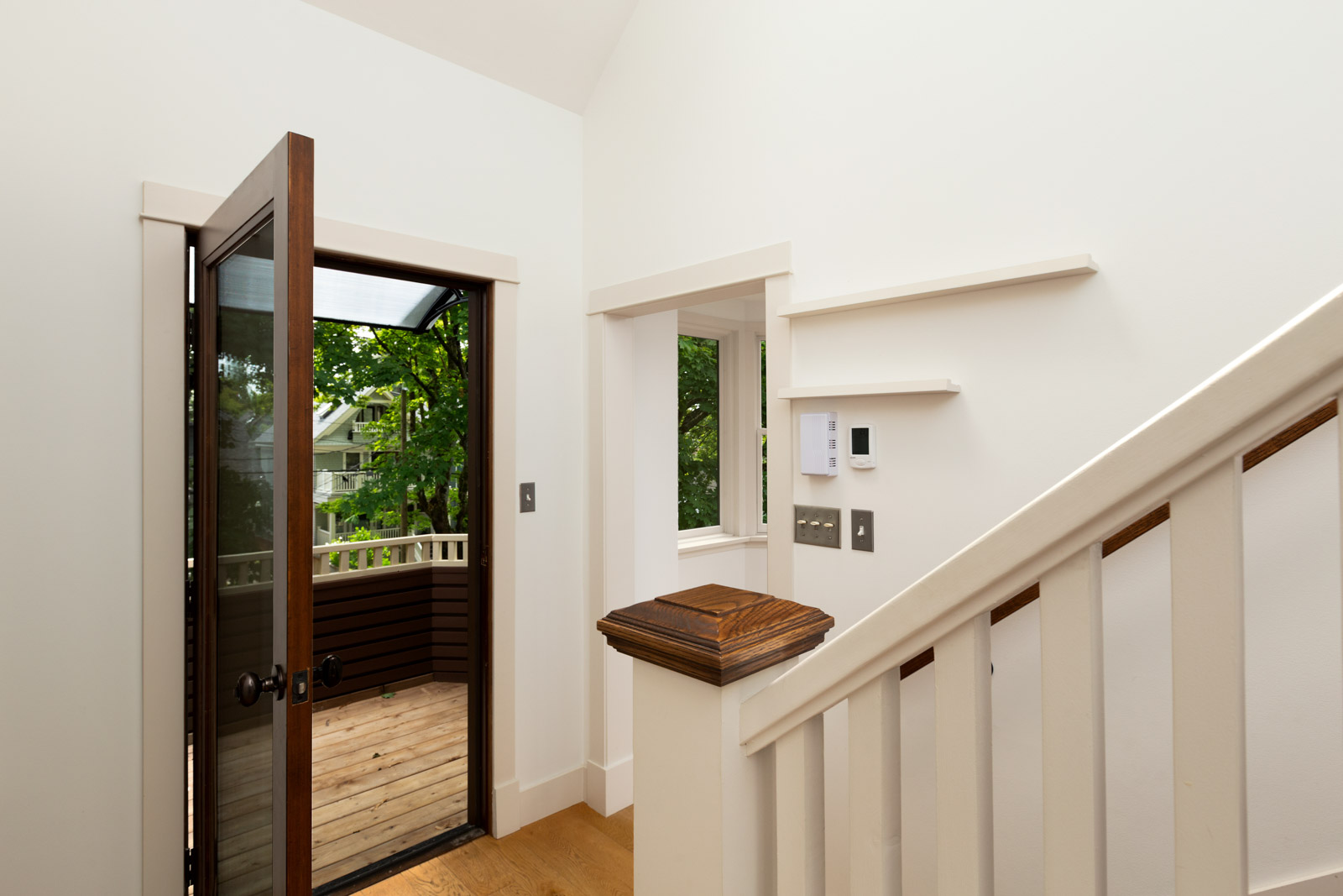 beautiful modern entryway into home managed by birds nest properties