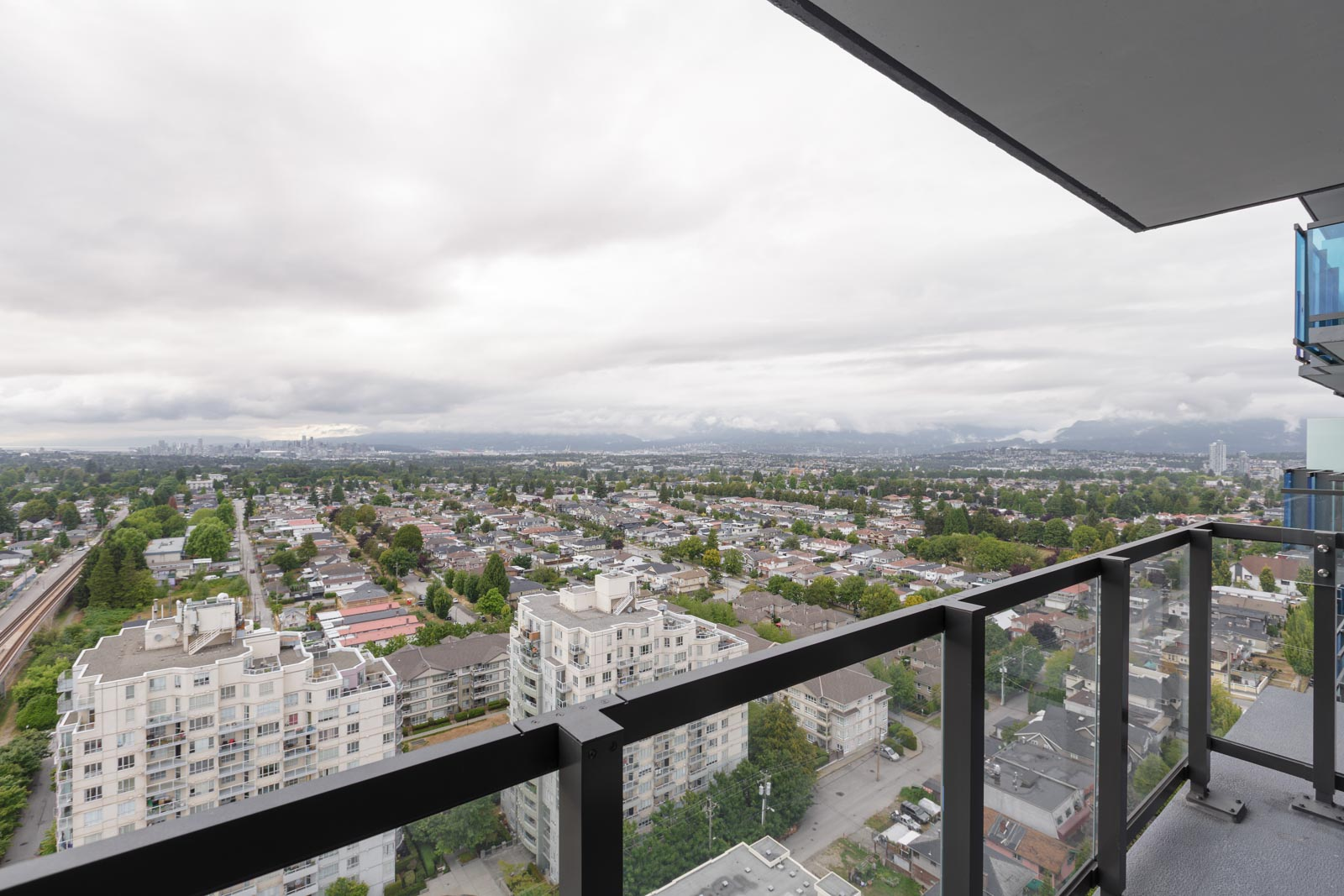 View of the the city skytrain