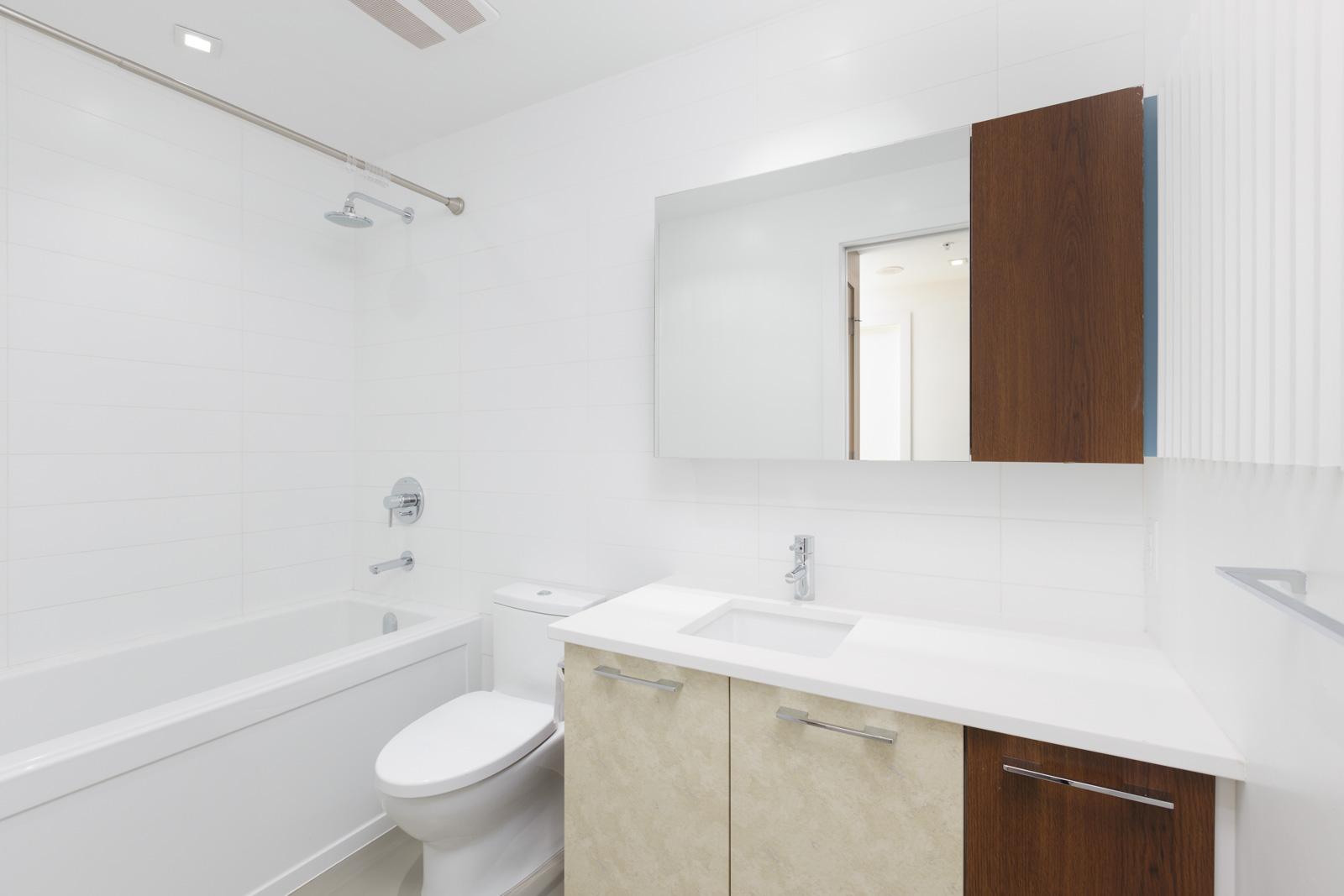 bathroom with toilet and bathtub in Mount Pleasant condo